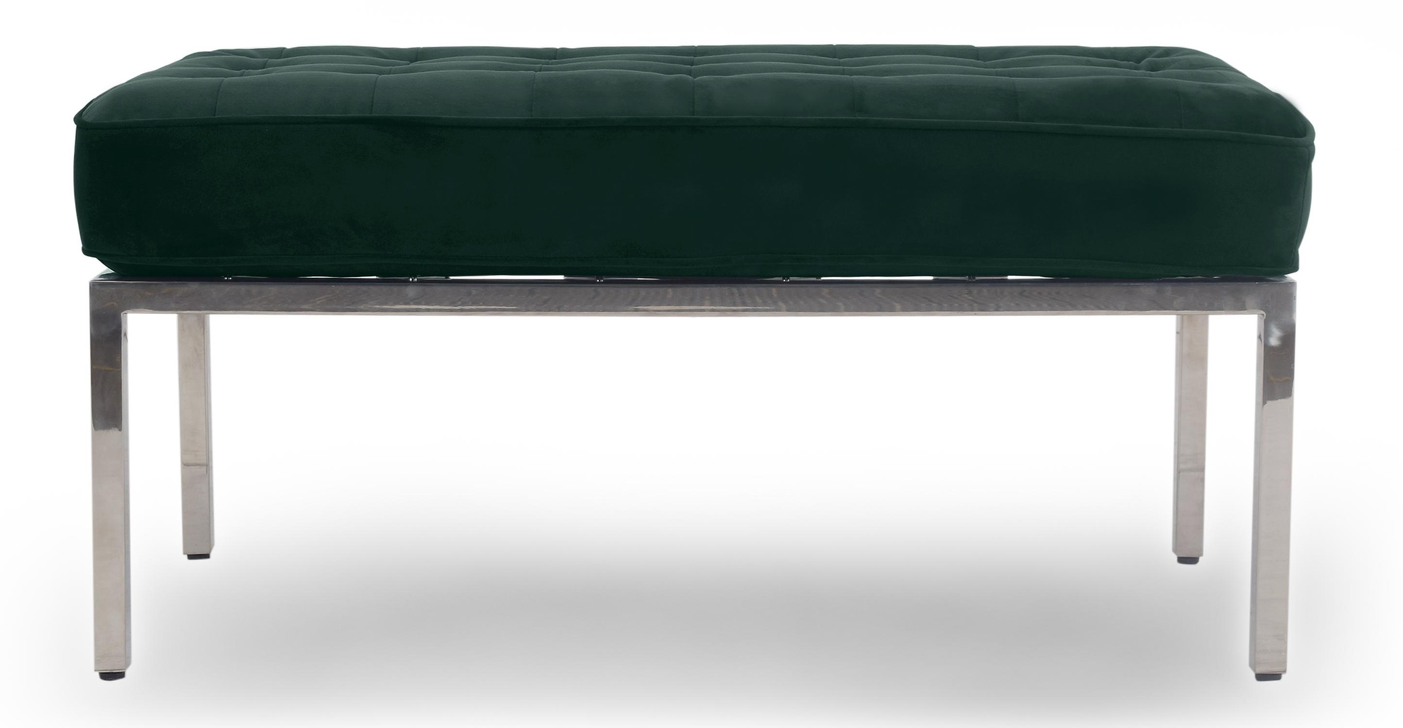 """Florence 36"""" Fabric Bench, Forest Velvet"""