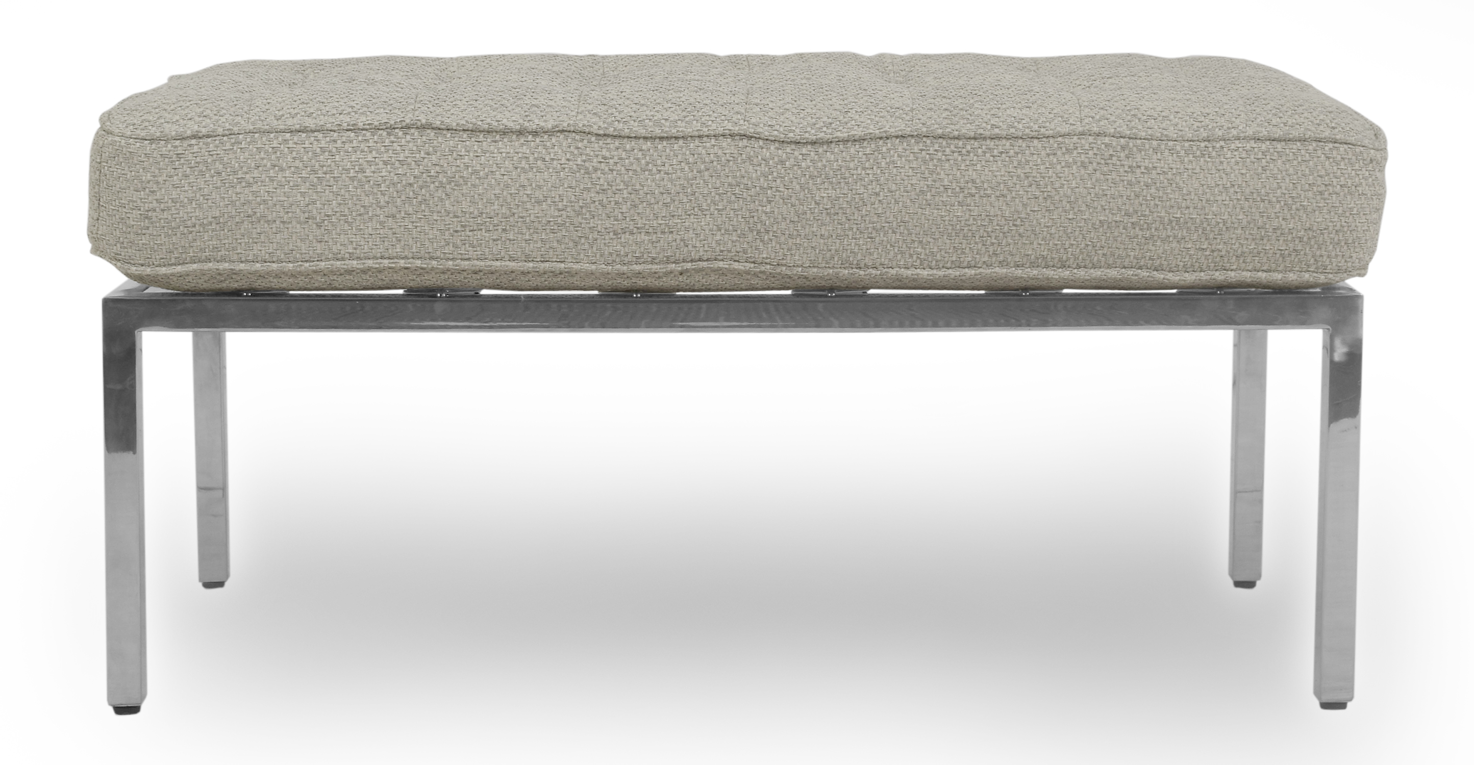 """Florence 36"""" Leather Bench, Neutra"""