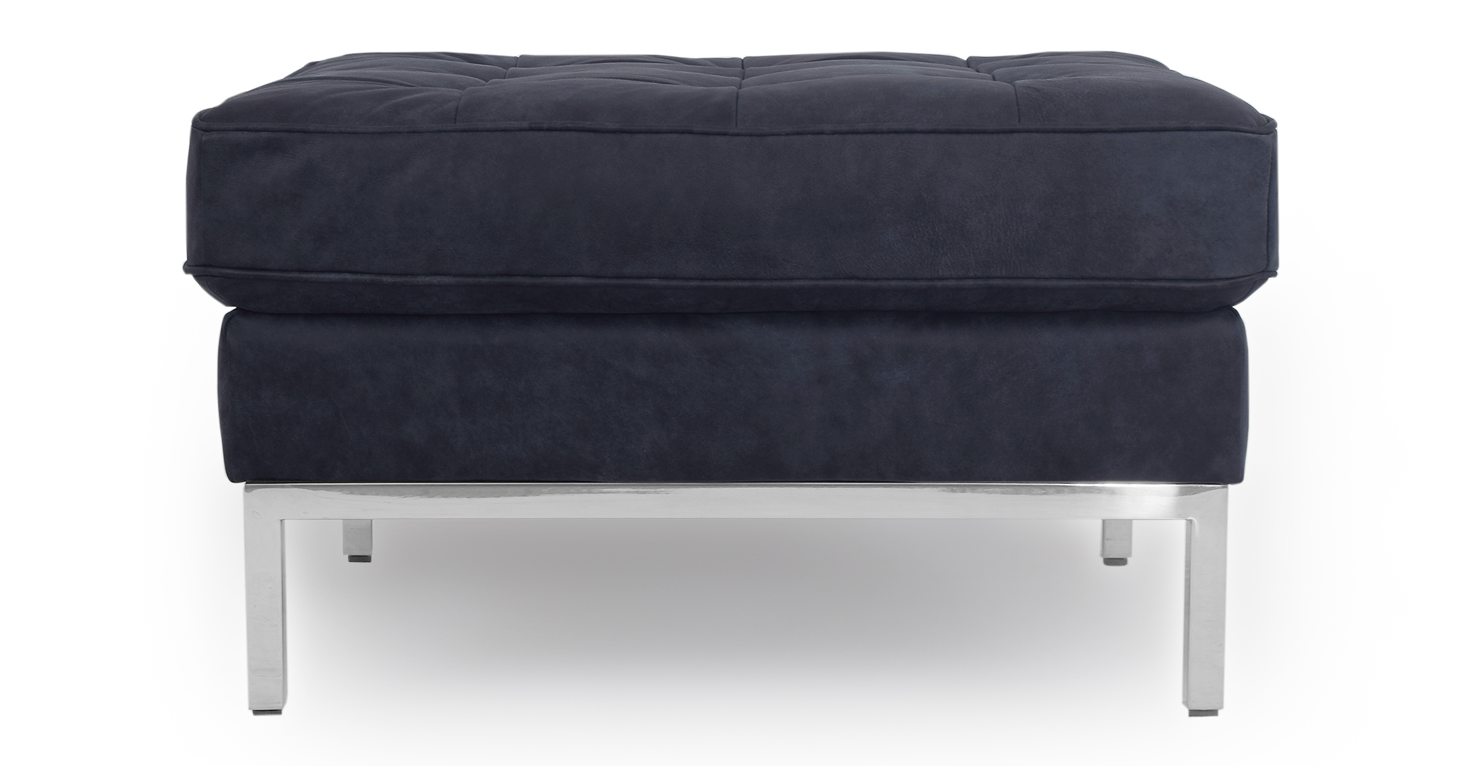 "Florence 28"" Leather Ottoman, Night"