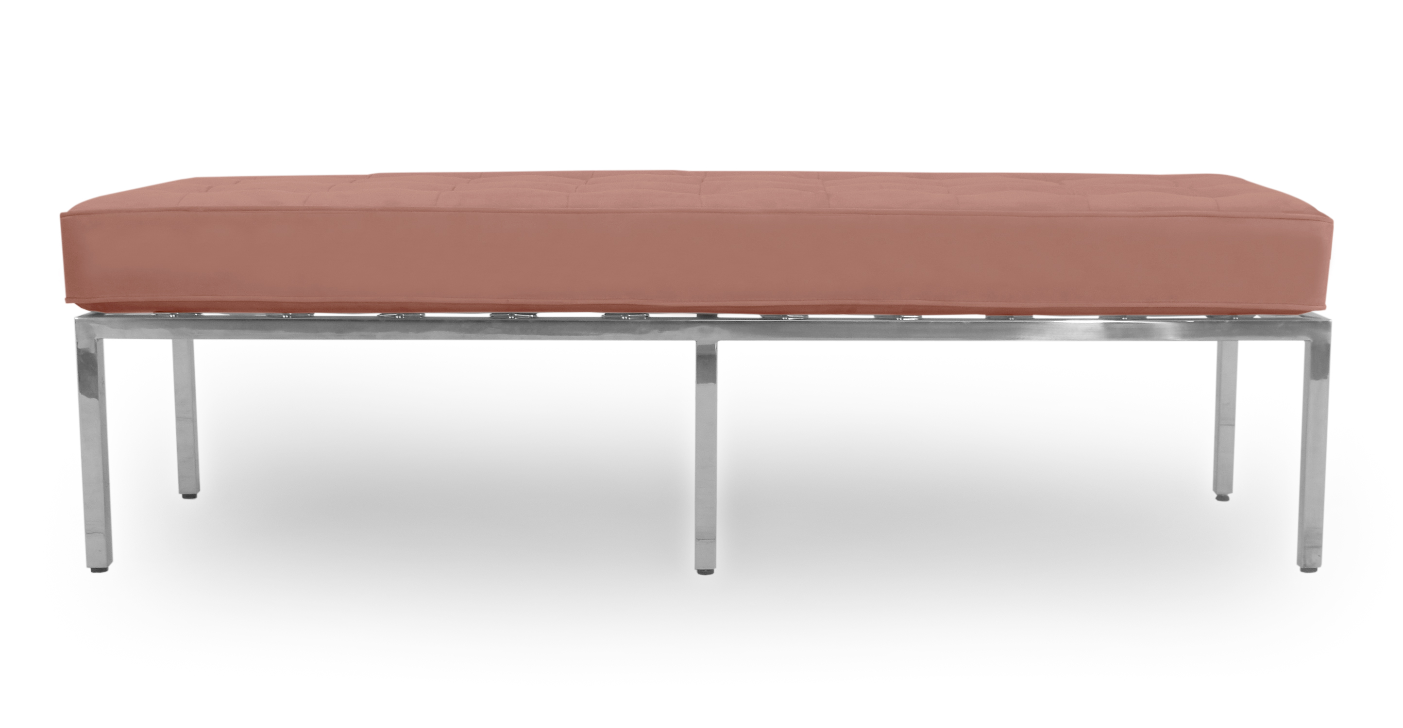 "Florence 59"" Fabric Bench, Cosmo Velvet"
