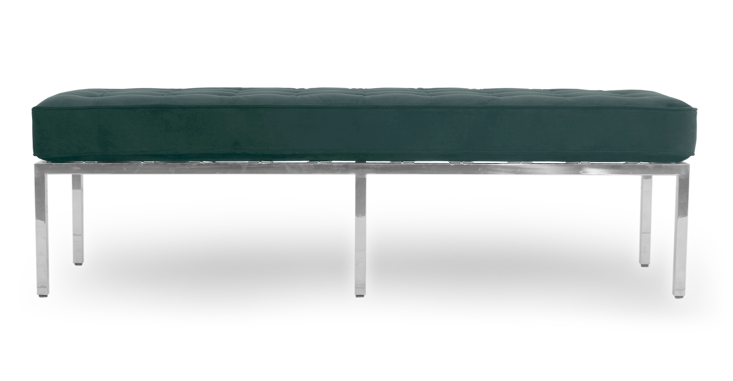 "Florence 59"" Fabric Bench, Prussian Velvet"