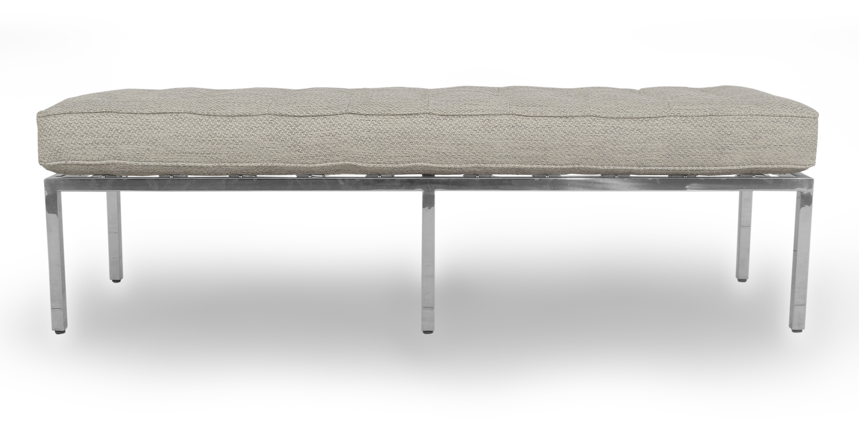 """Florence 59"""" Fabric Bench, Neutra"""