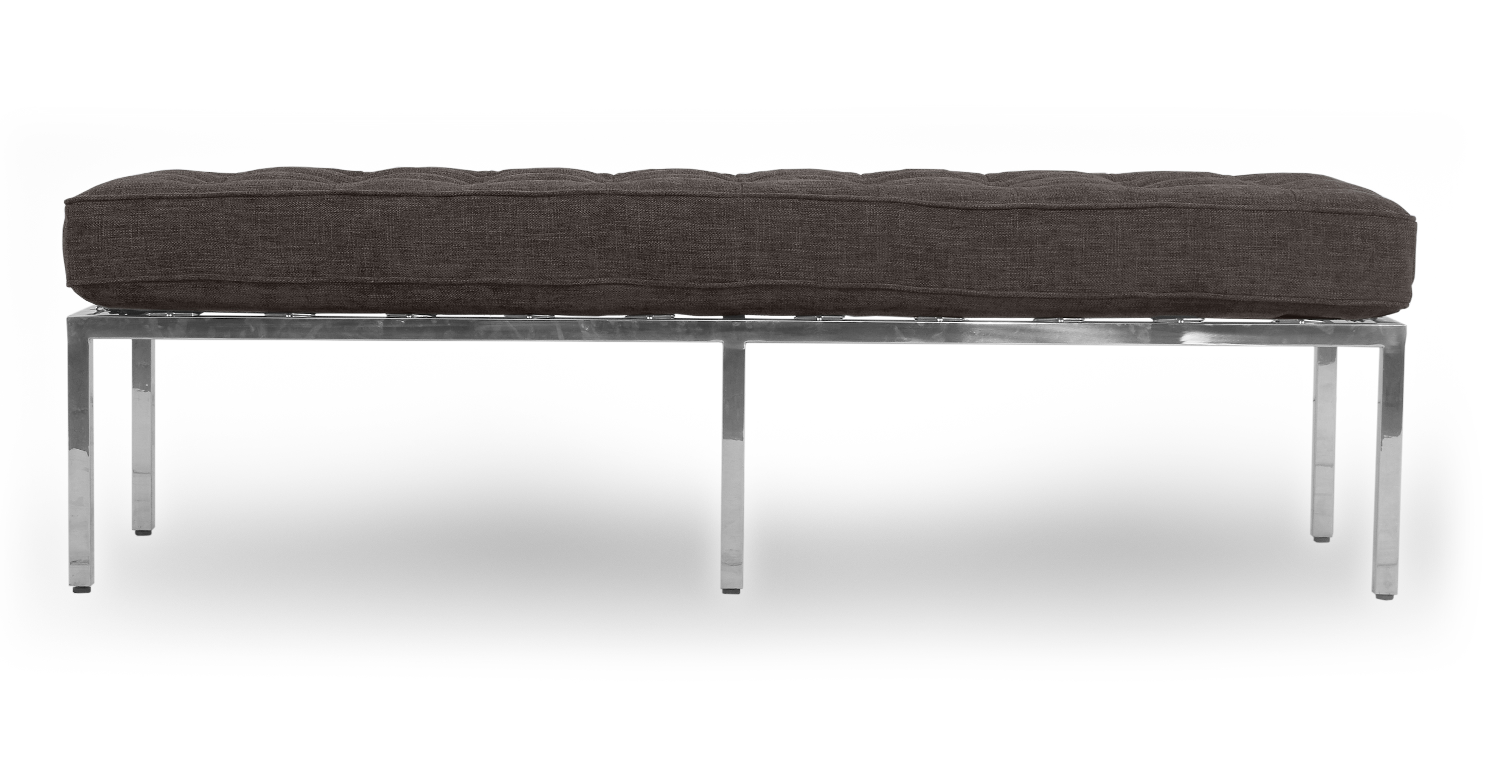 "Florence 59"" Fabric Bench, Steel"