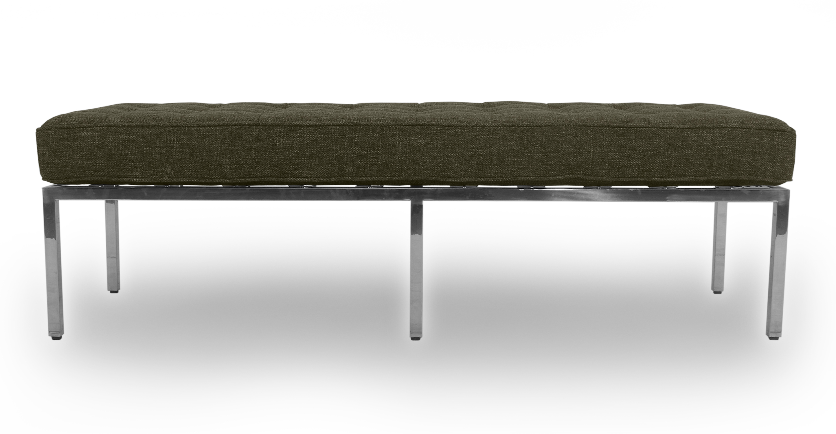 "Florence 59"" Fabric Bench, Tarragon"