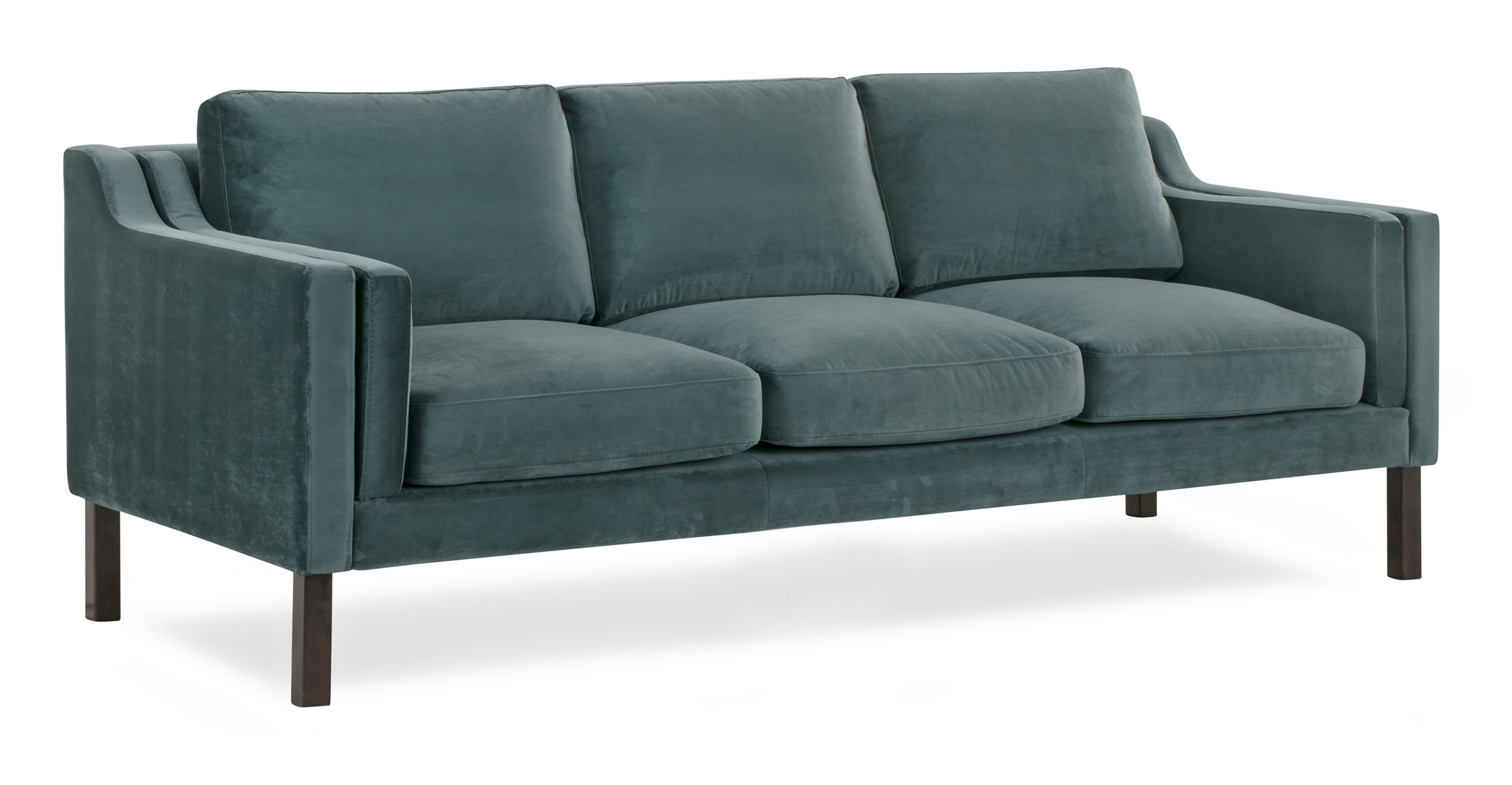 "Monroe 87"" Fabric Sofa, Prussian Velvet"
