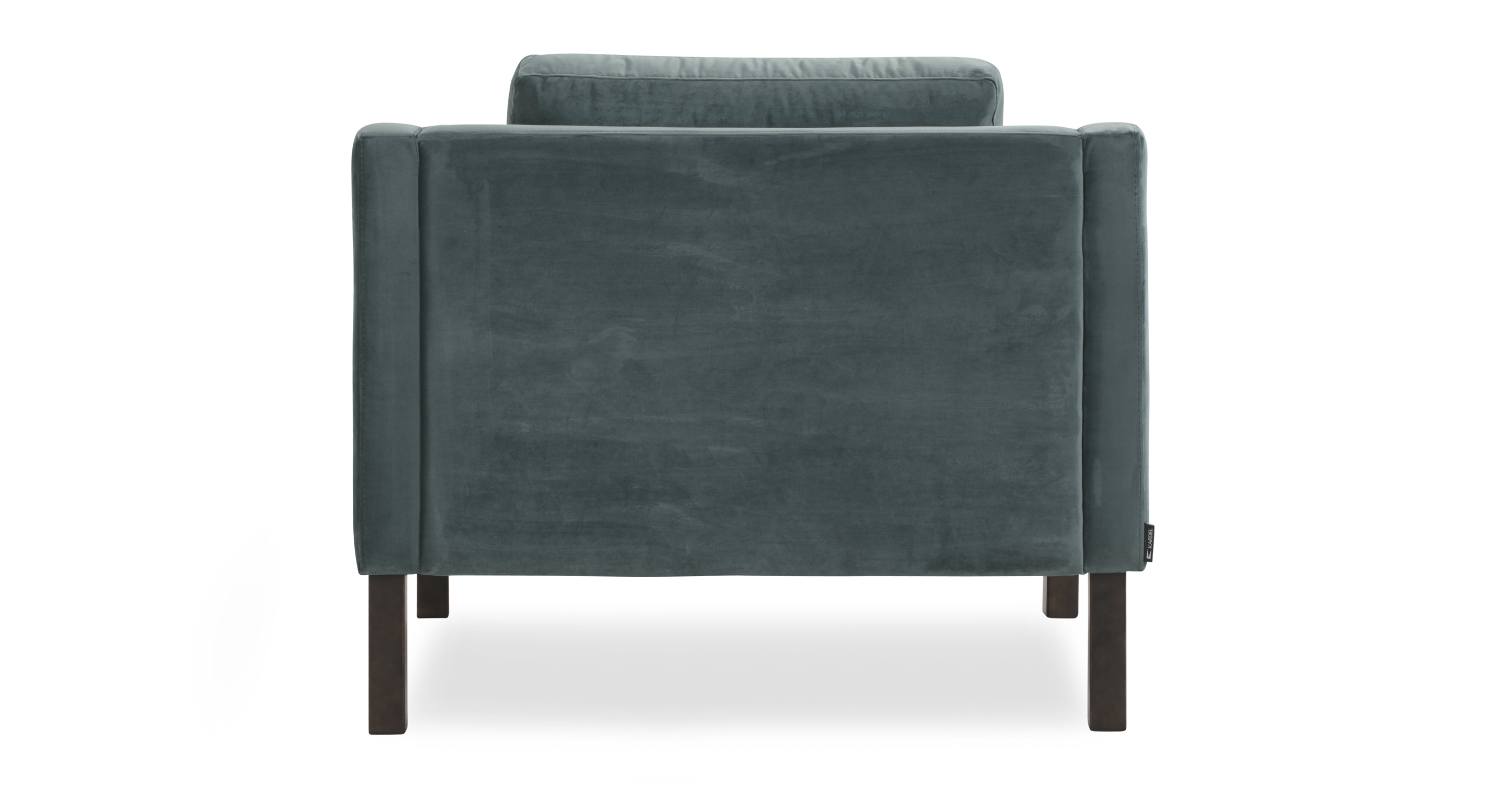 """Monroe 39"""" Fabric Chair, Prussian Velvet"""