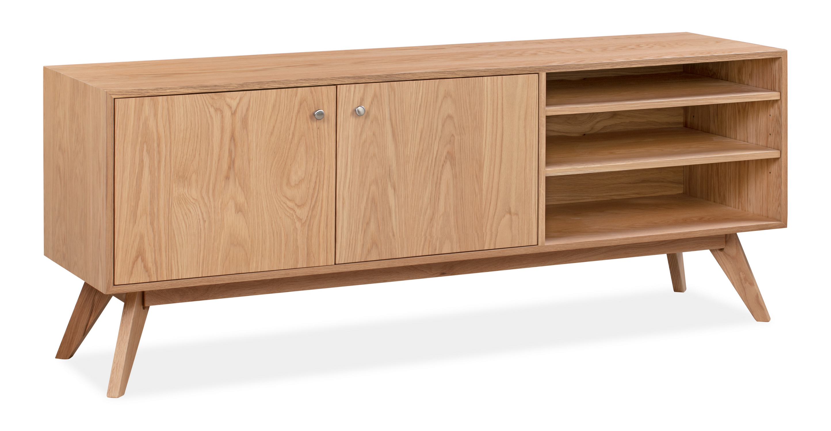 "Bauhaus 71"" TV Media Unit, Natural Oak"