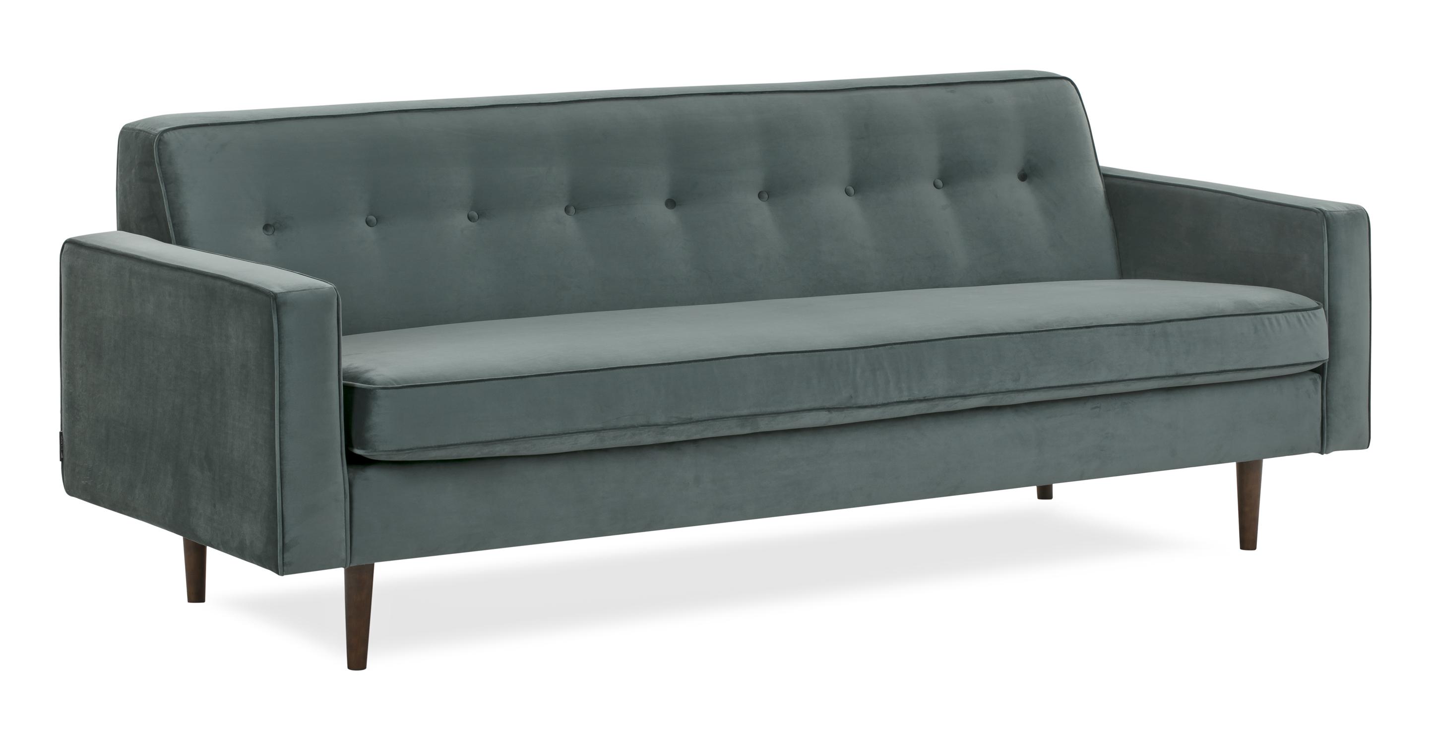 """Eleanor 85"""" Fabric Sofa,  Prussian Velvet"""