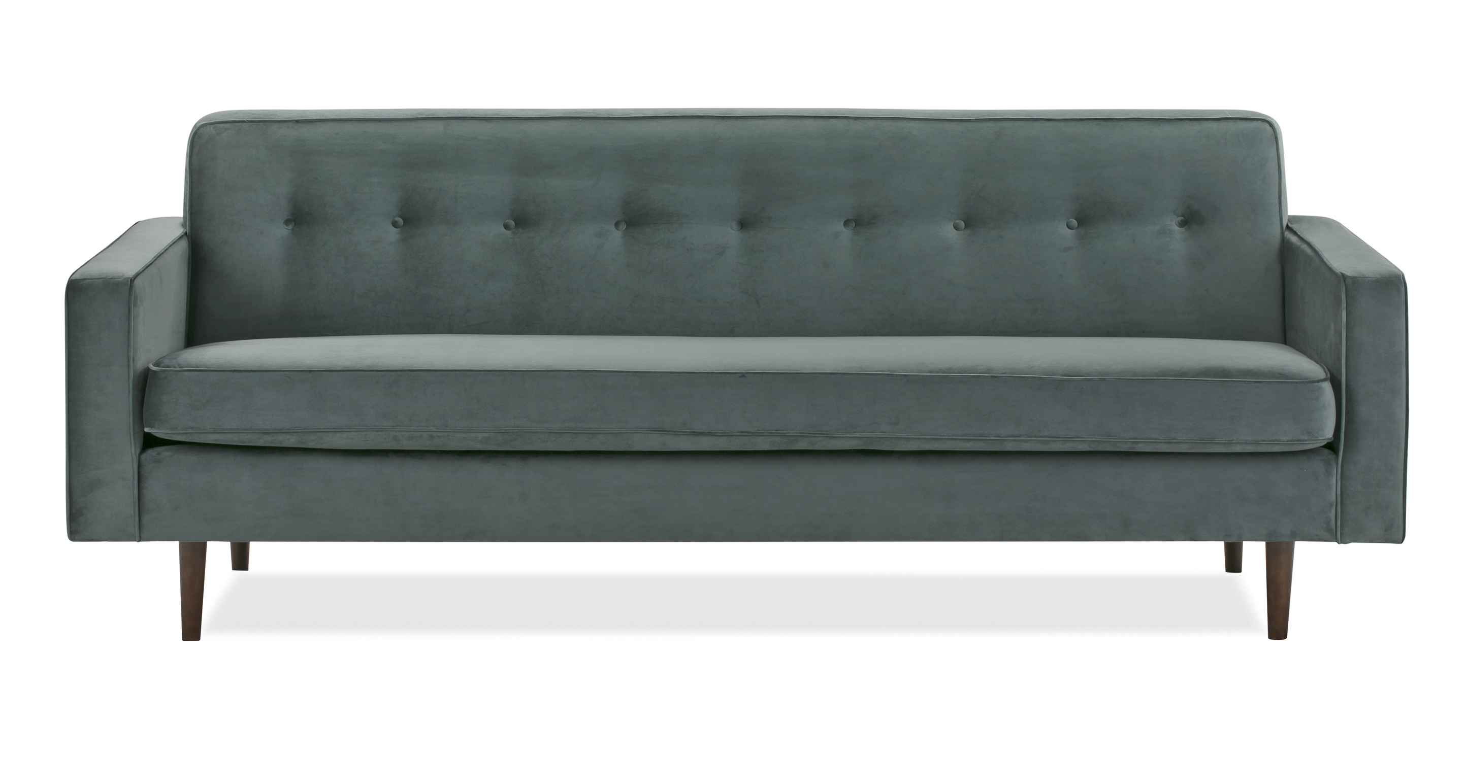 "Eleanor 85"" Fabric Sofa,  Prussian Velvet"
