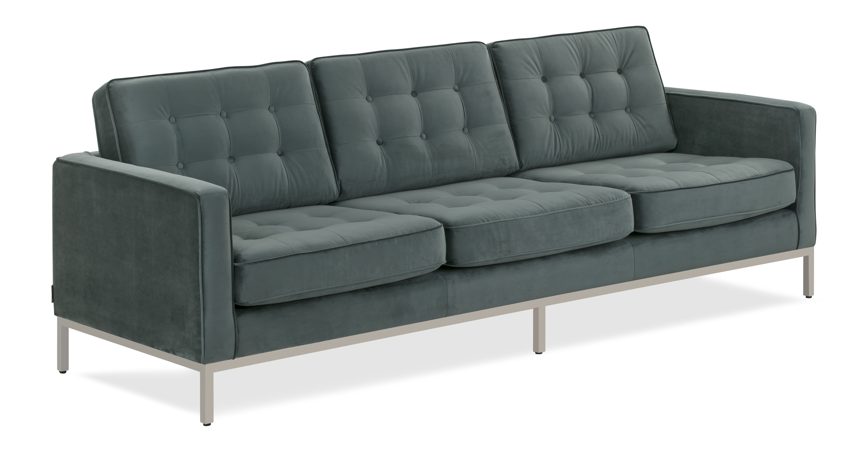"Florence 89"" Fabric Sofa, Prussian Velvet"