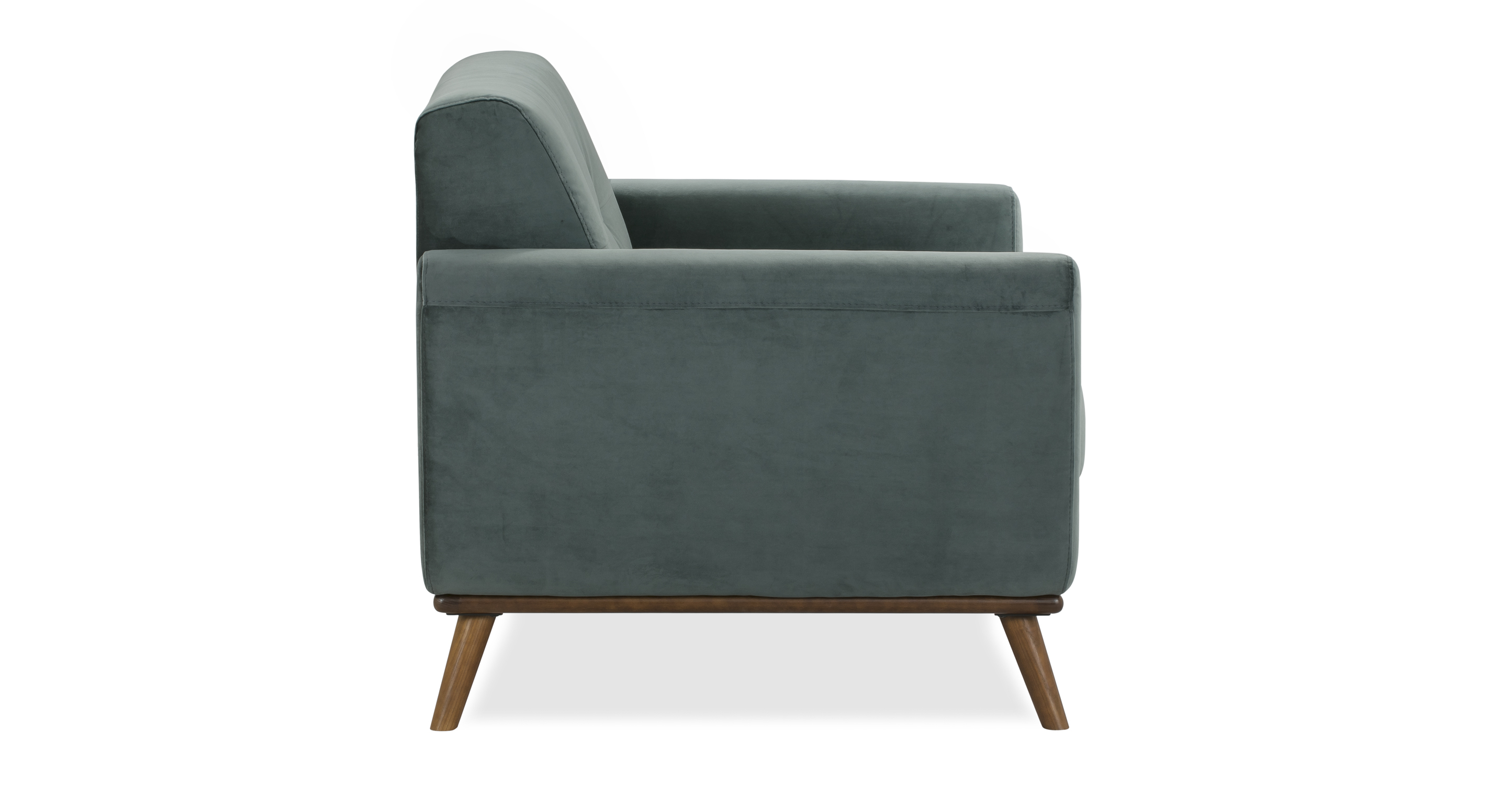 "Jackie 38"" Fabric Armchair,  Prussian Velvet"