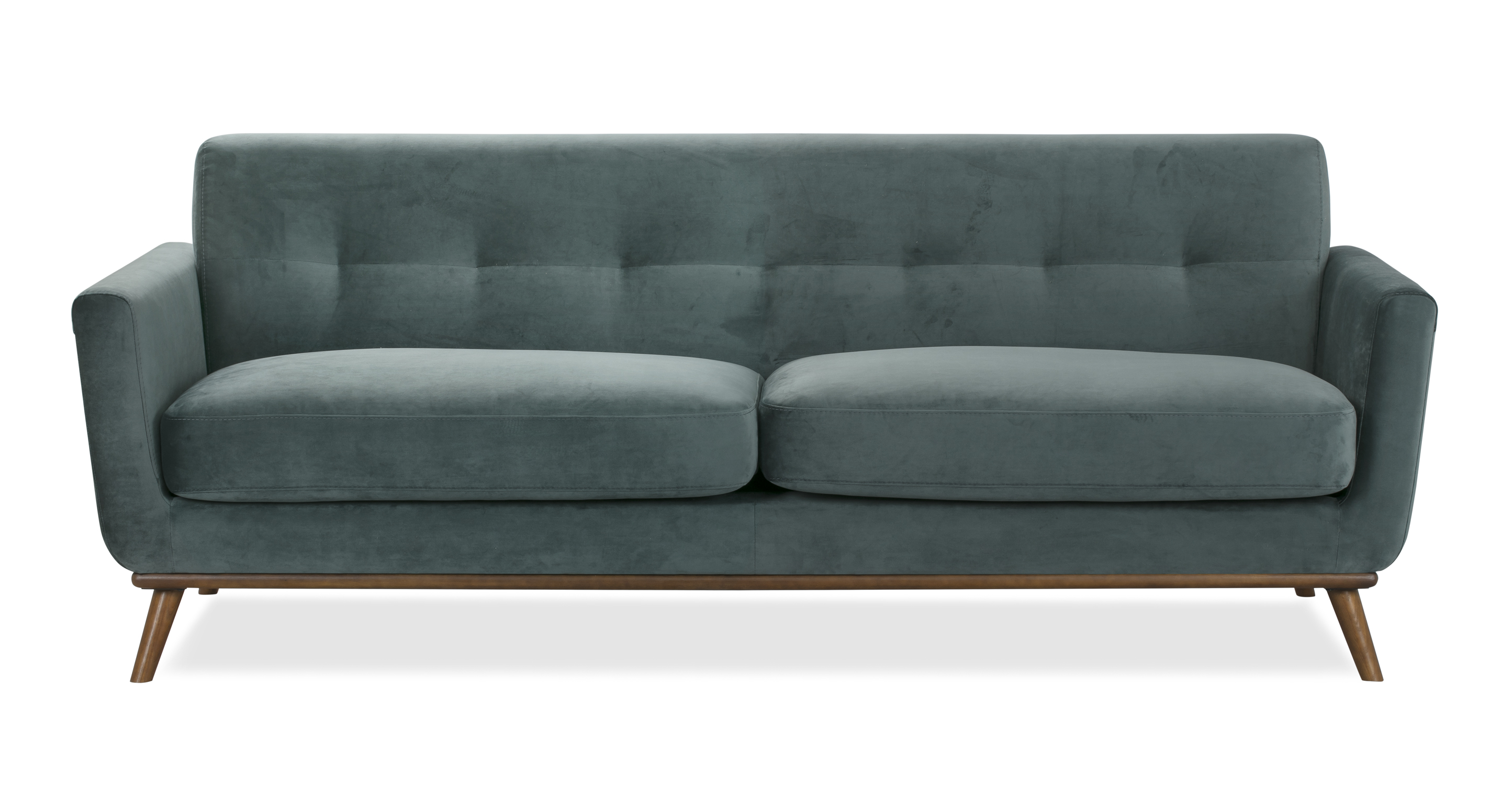 "Jackie 88"" Fabric Sofa, Prussian Velvet"