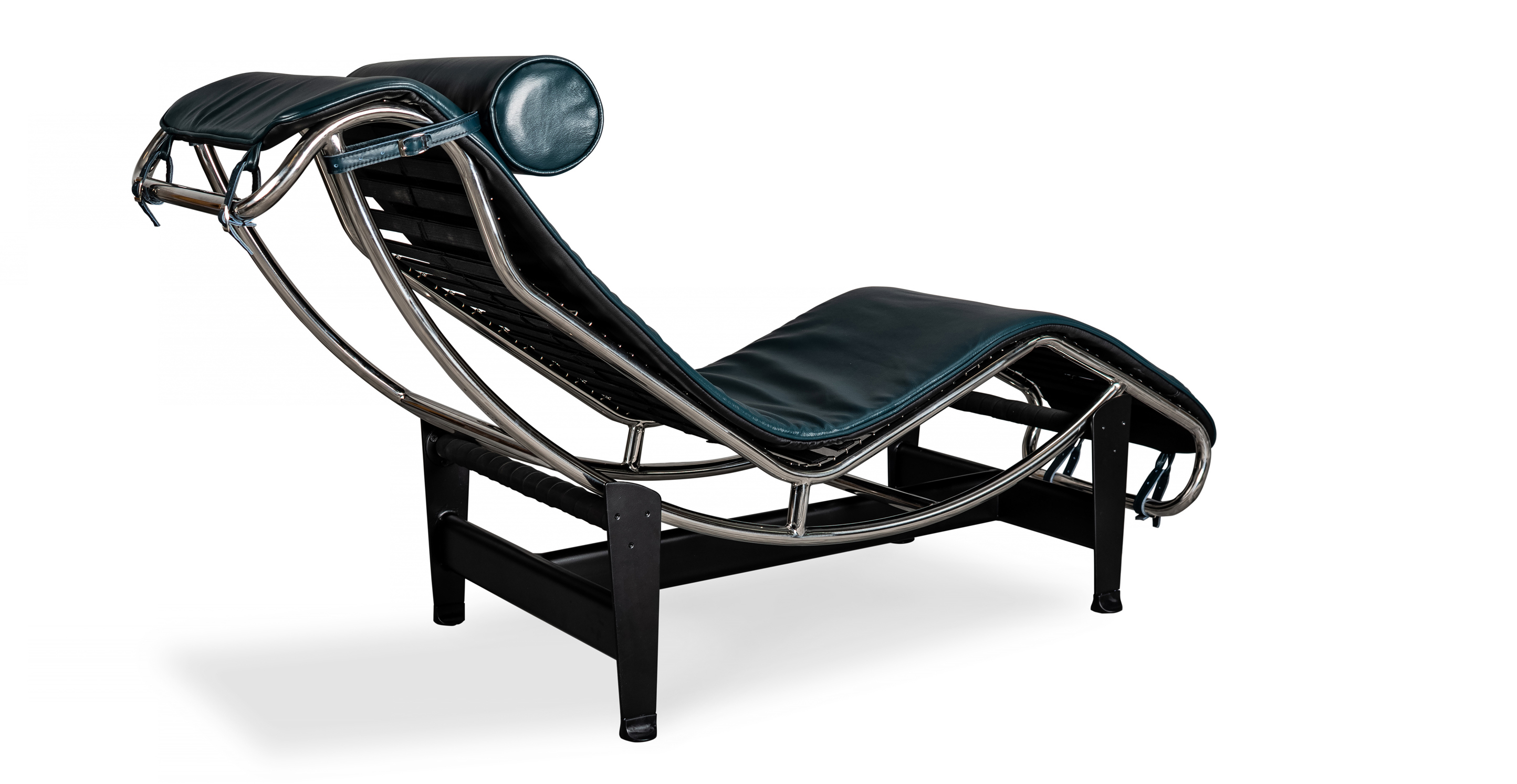 Gravity Chaise Lounge, Blue Aniline Leather