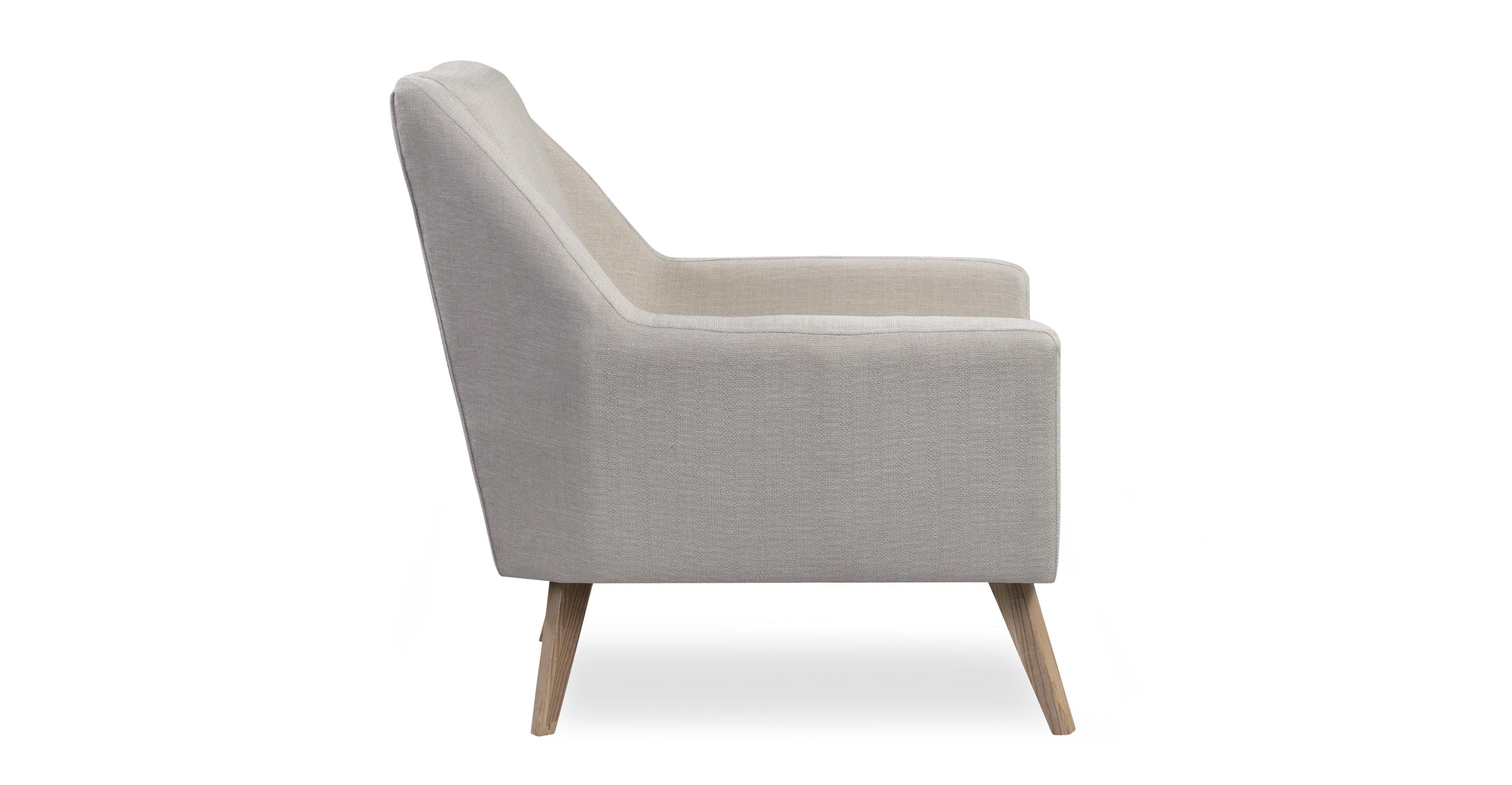 "Angle 33"" Fabric Chair, Ash/Opal"
