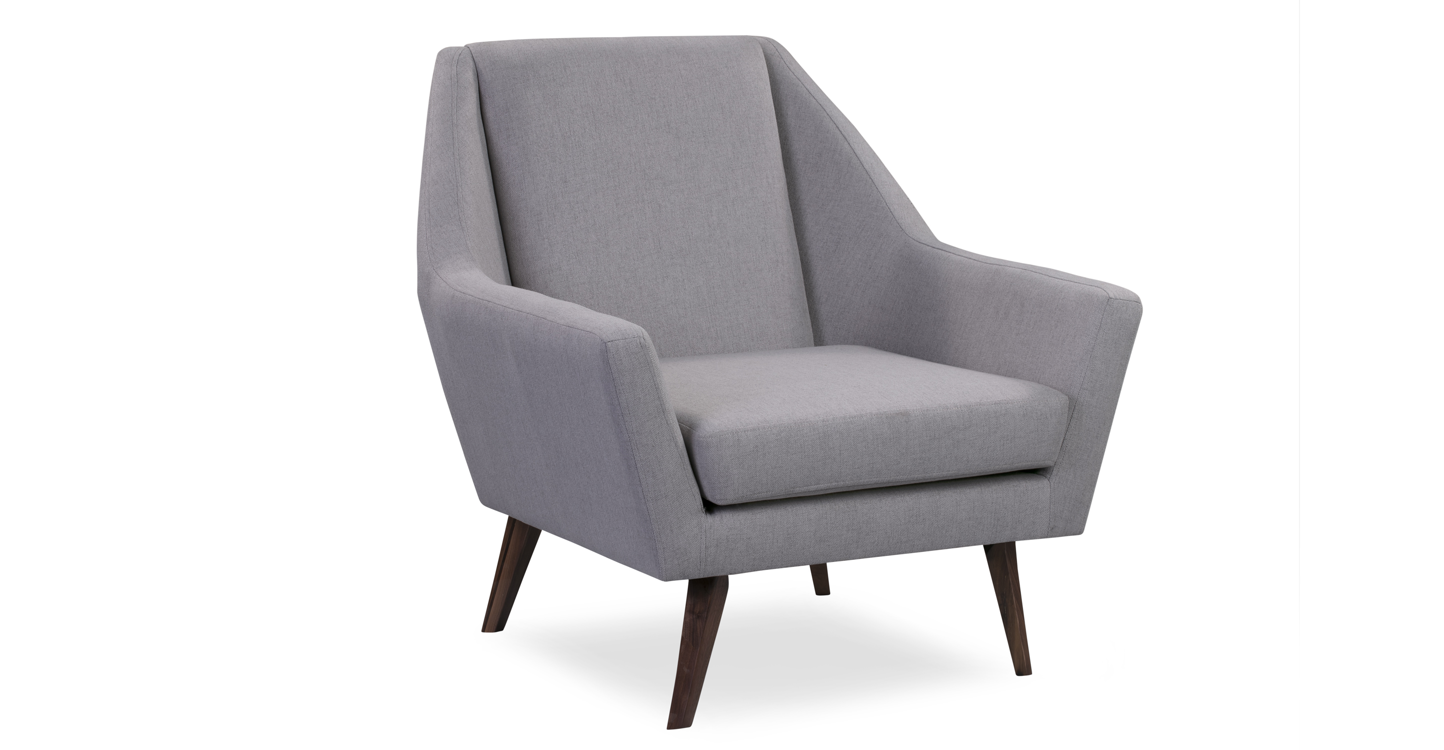 "Angle 33"" Fabric Chair, Walnut/Mist"