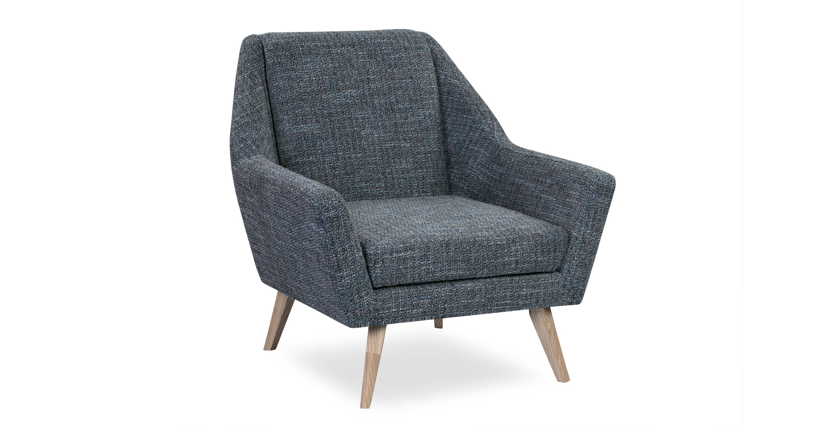"""Angle 33"""" Fabric Chair, Ash/Matrix"""