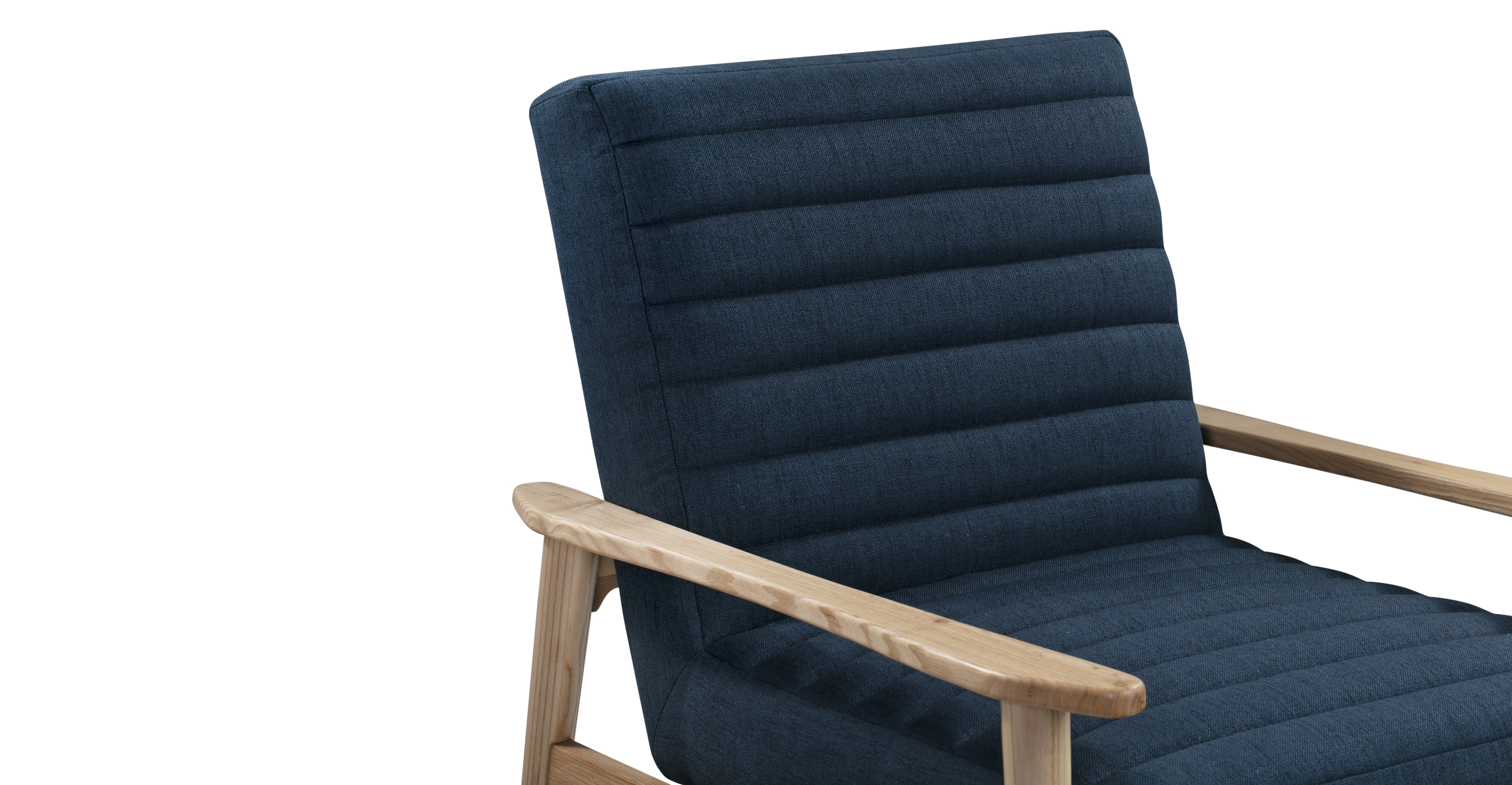 "Mies 26"" Fabric Chair, Indigo"