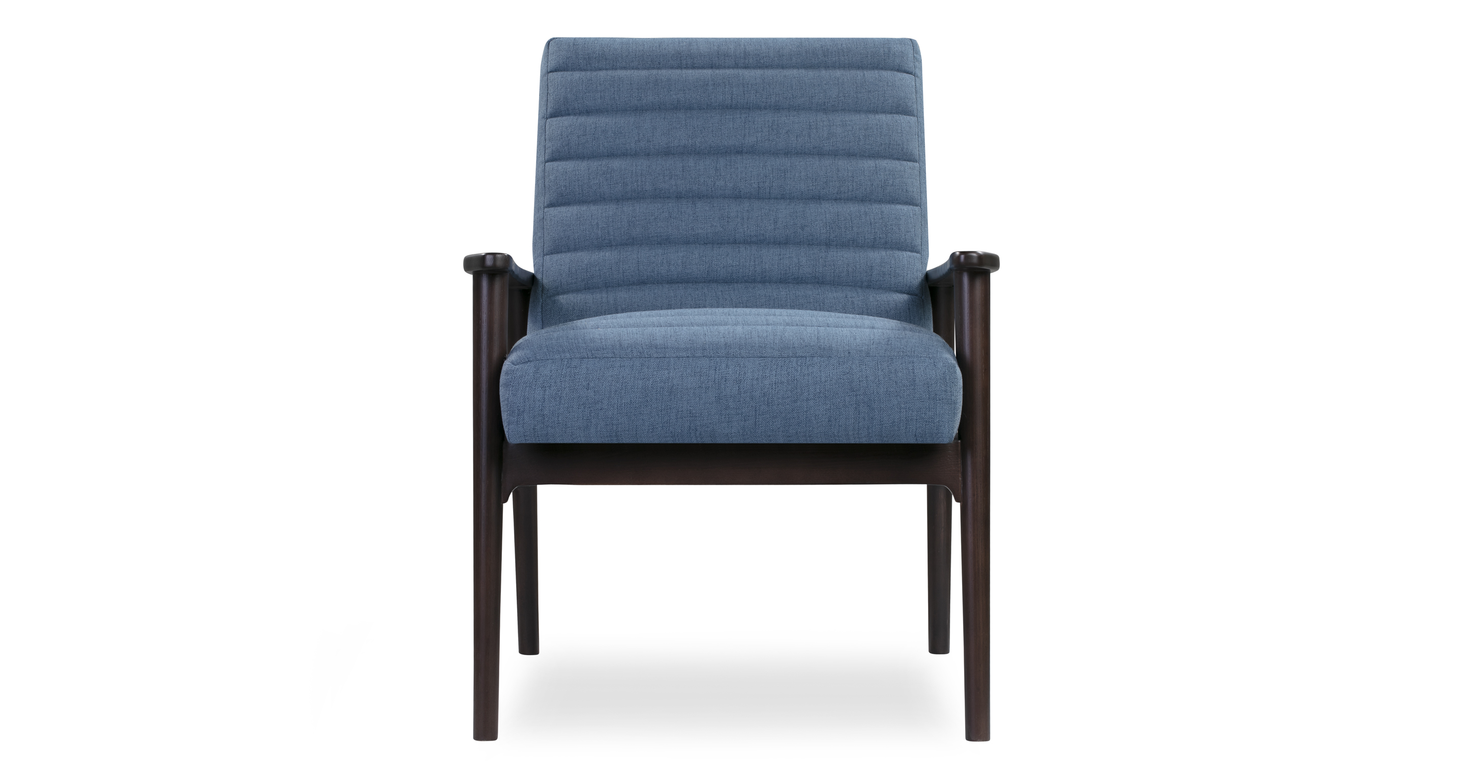 "Mies 26"" Fabric Chair, Stained Ash/Denim"