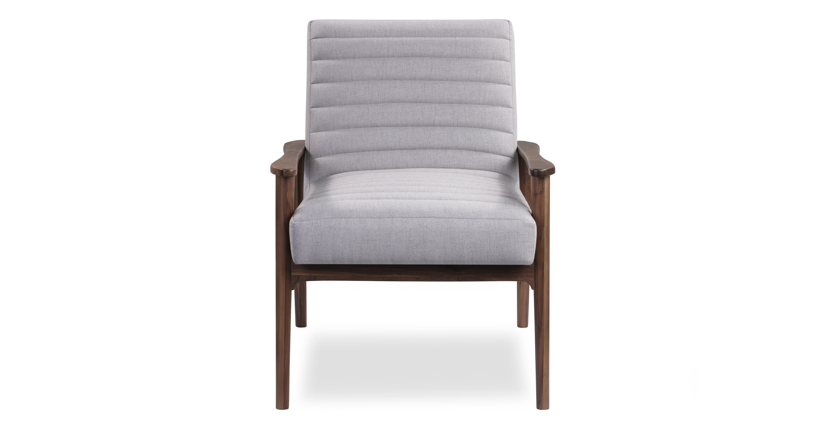 "Mies 26"" Fabric Chair, Walnut/Mist"