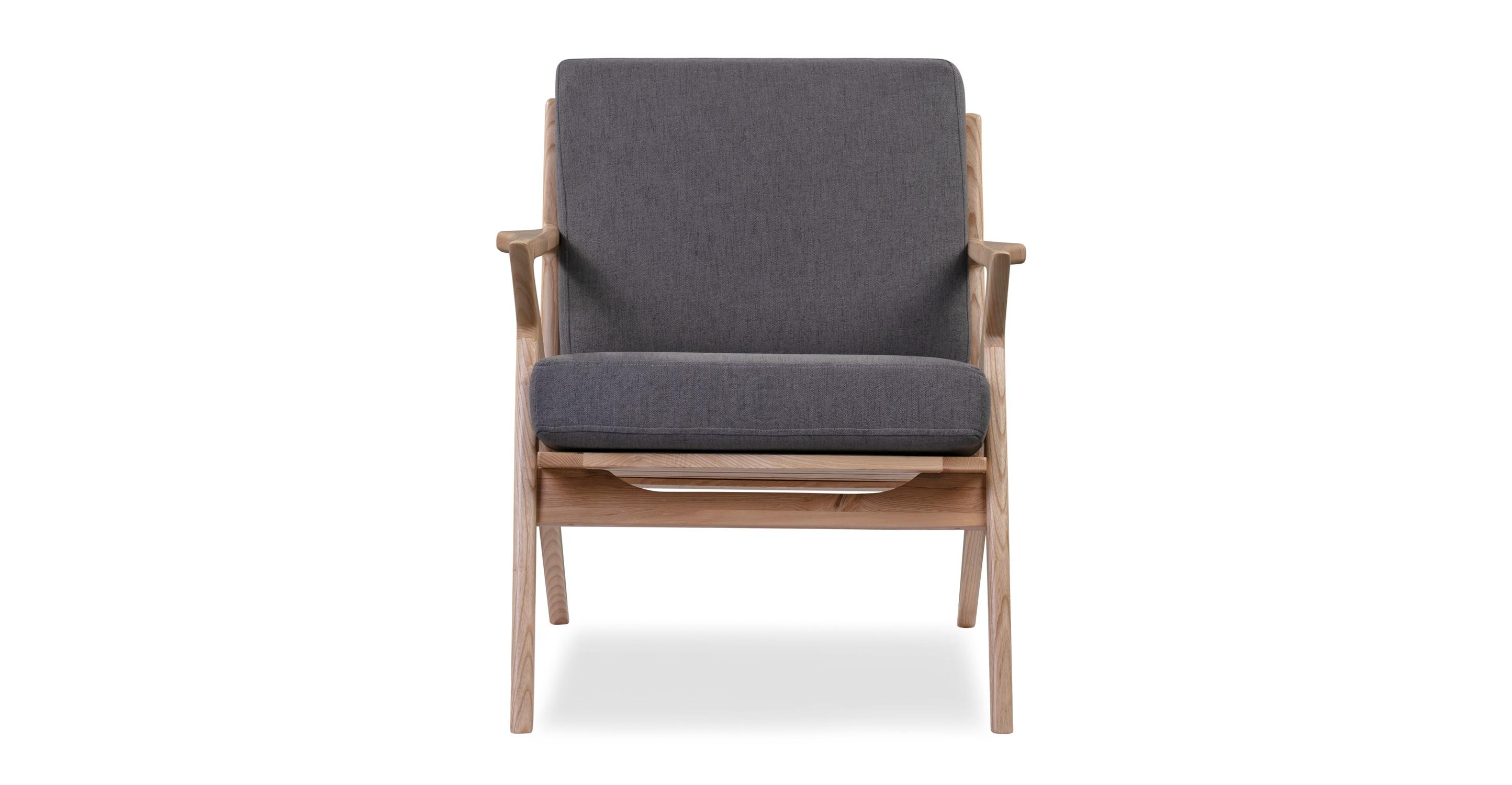 "Partridge 30"" Fabric Chair, Ash/Smoke"