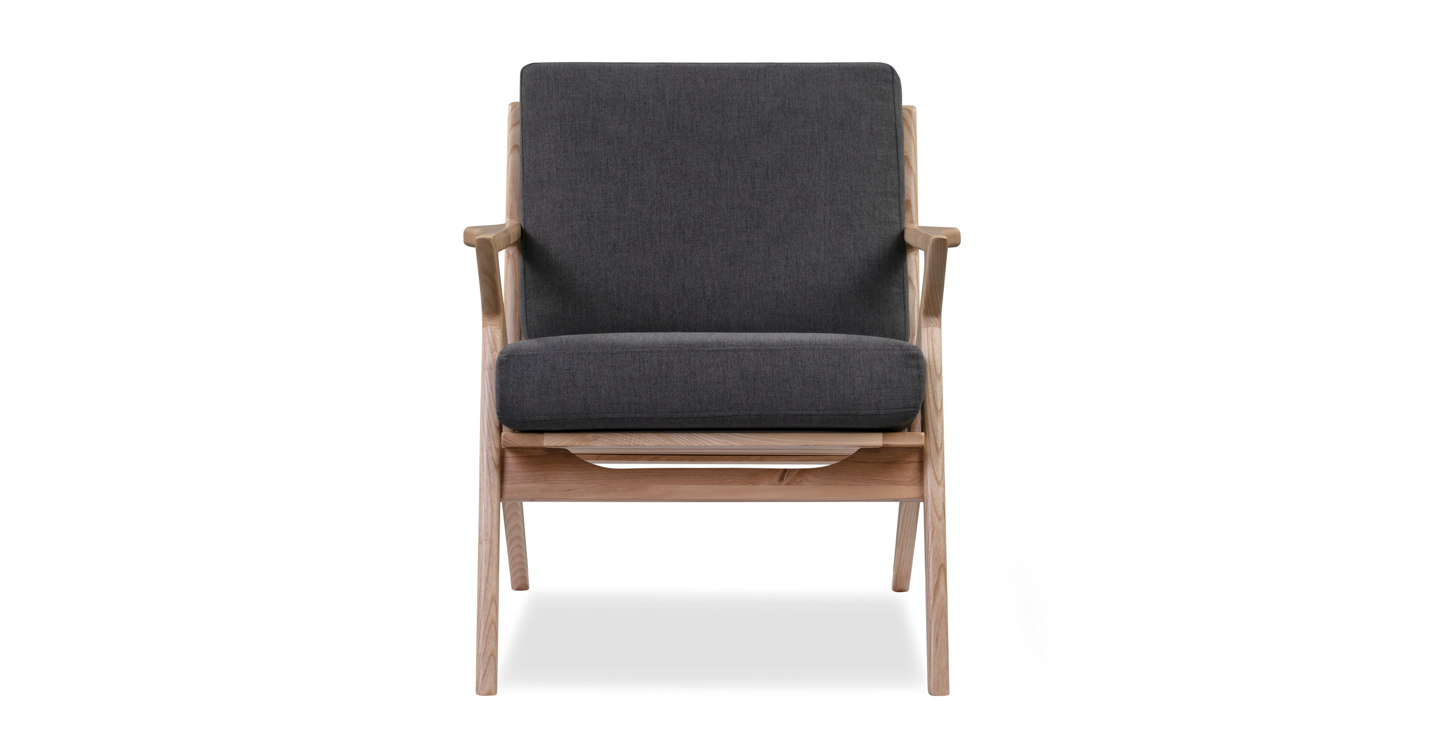 "Partridge 30"" Fabric Chair, Ash/Twilight"