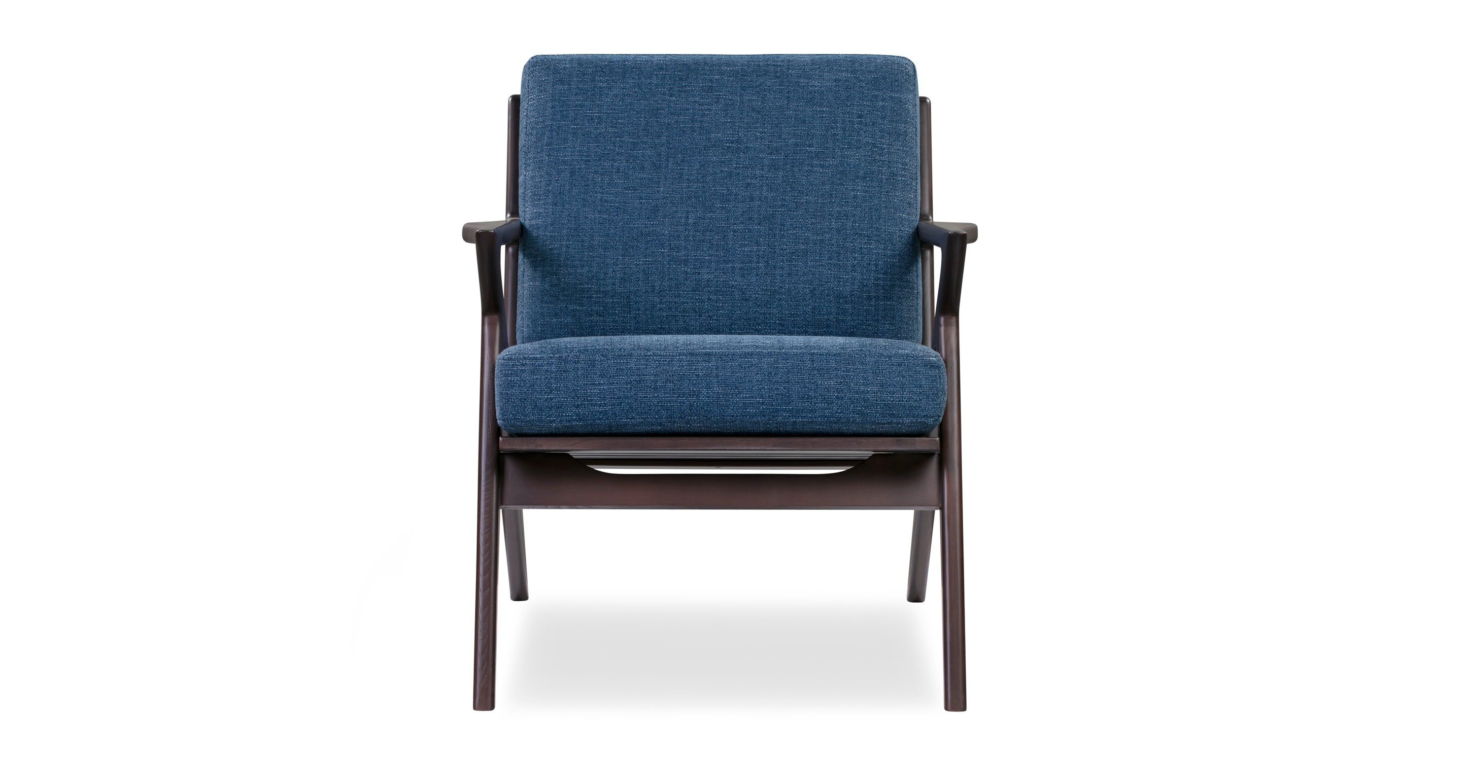 "Partridge 30"" Fabric Chair, Stained Ash/Sapphire"