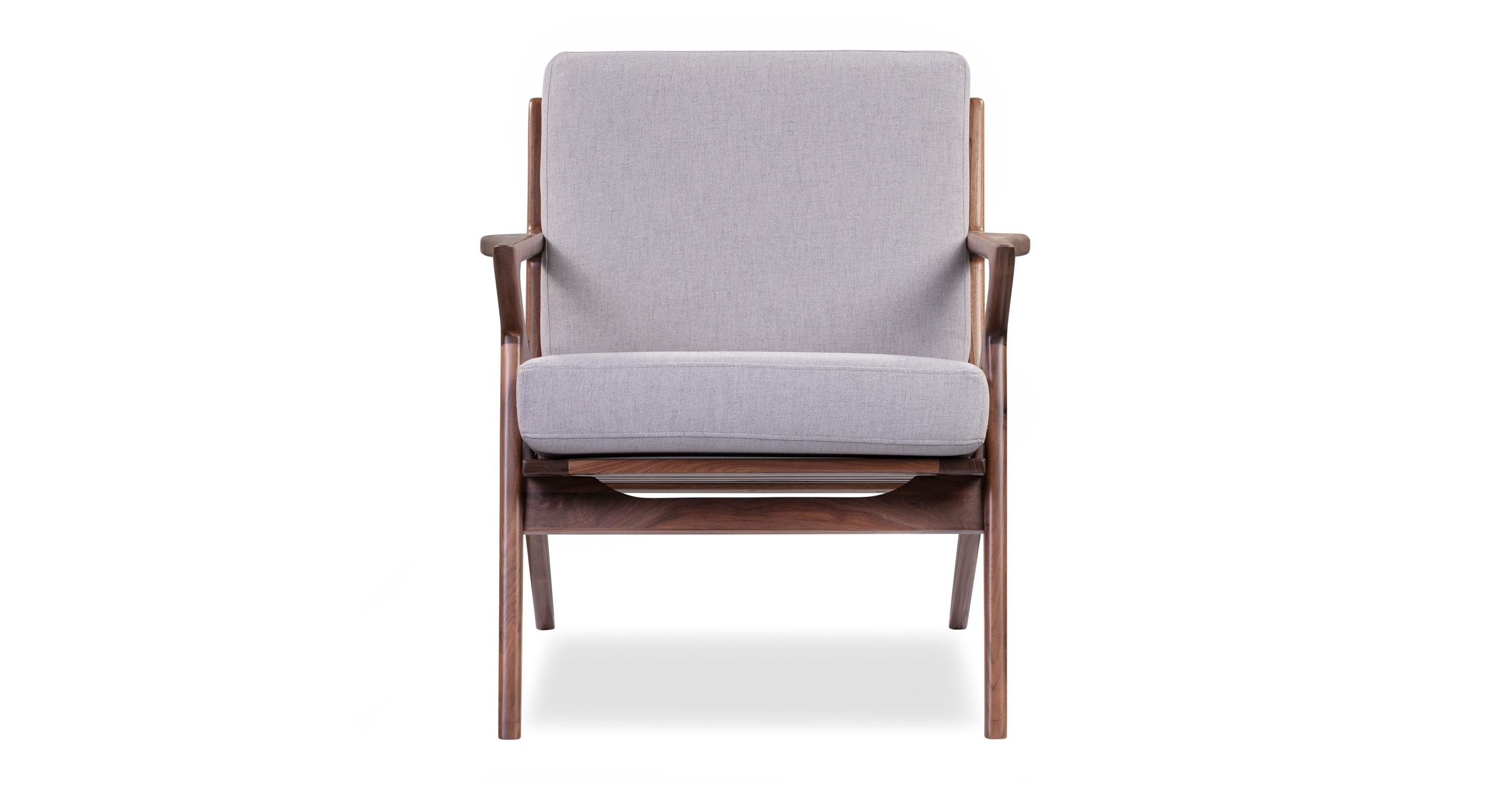 """Partridge 30"""" Fabric Chair, Walnut/Mist"""