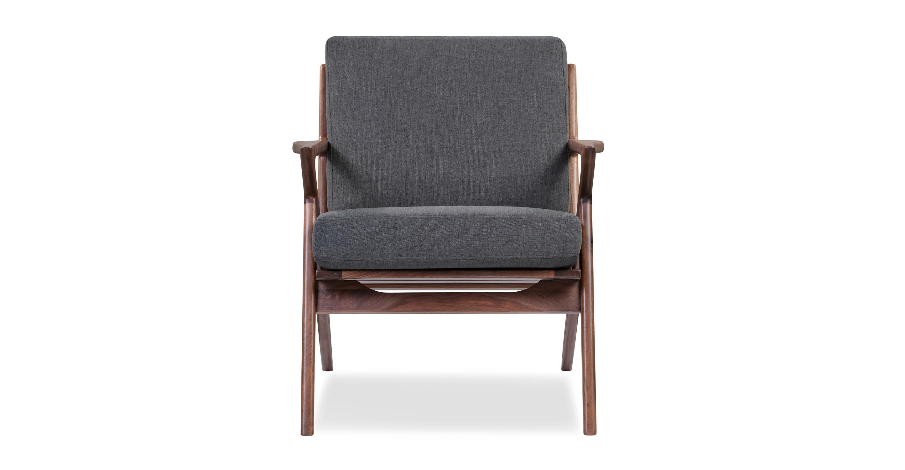 "Partridge 30"" Fabric Chair, Walnut/Twilight"