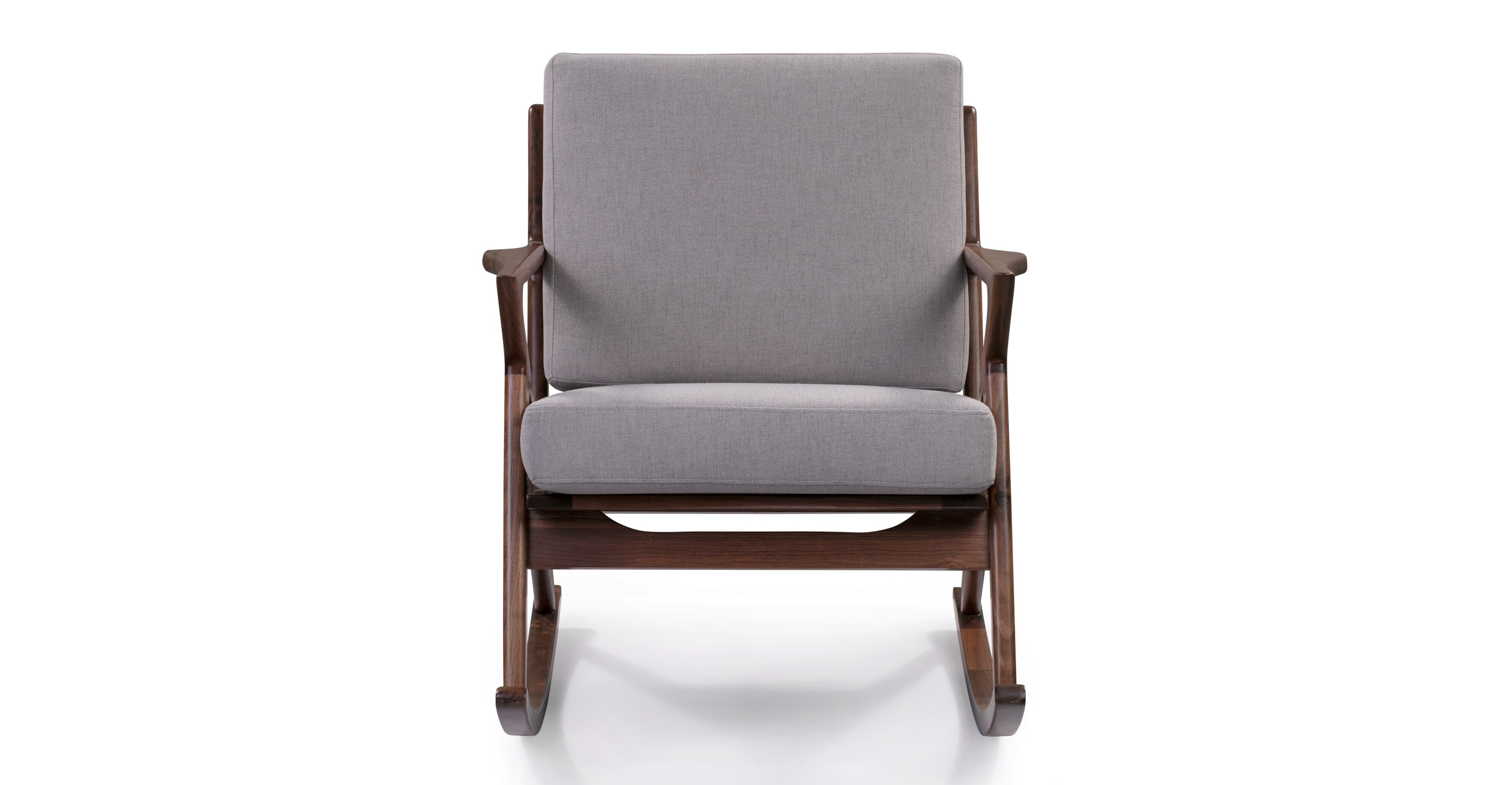 "Partridge 30"" Fabric Rocker, Walnut/Mist"