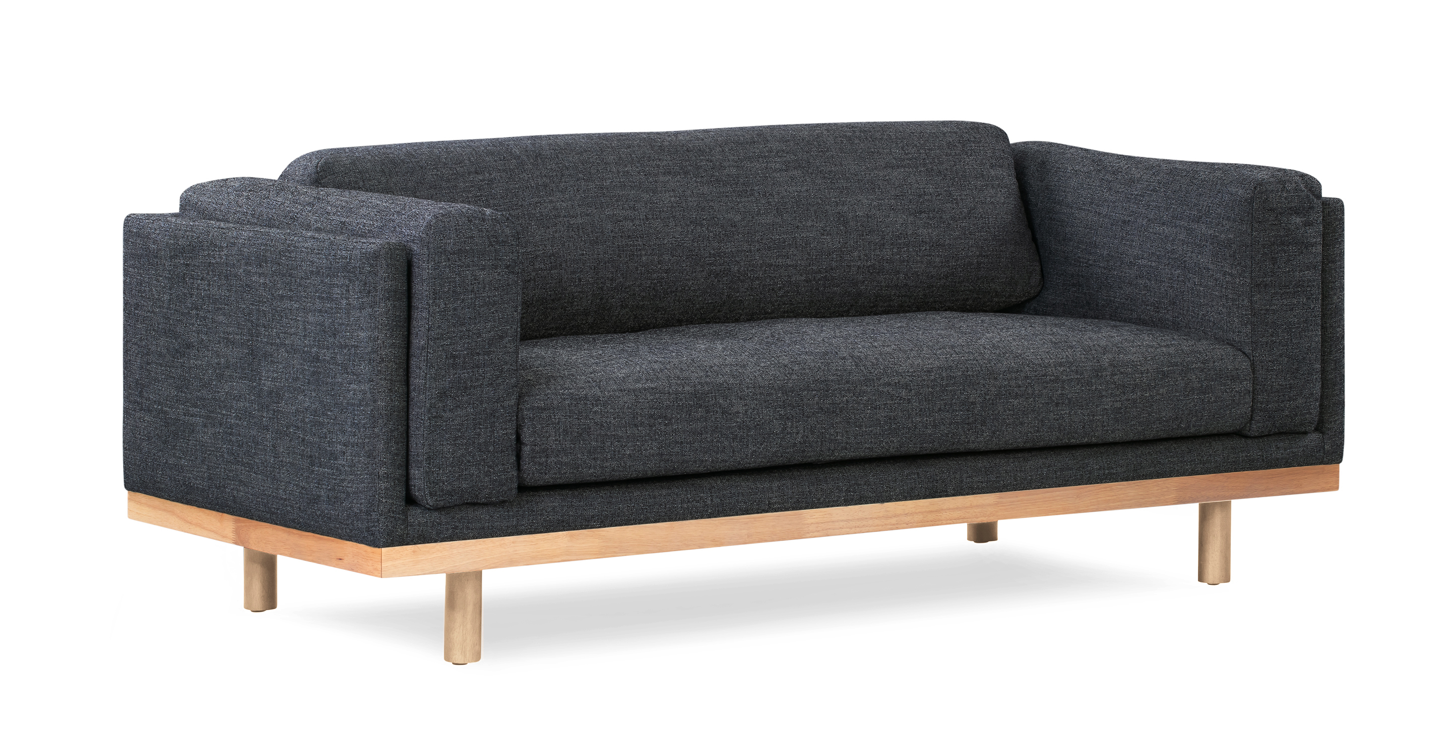 "Dane 79"" Fabric Sofa, Denim"