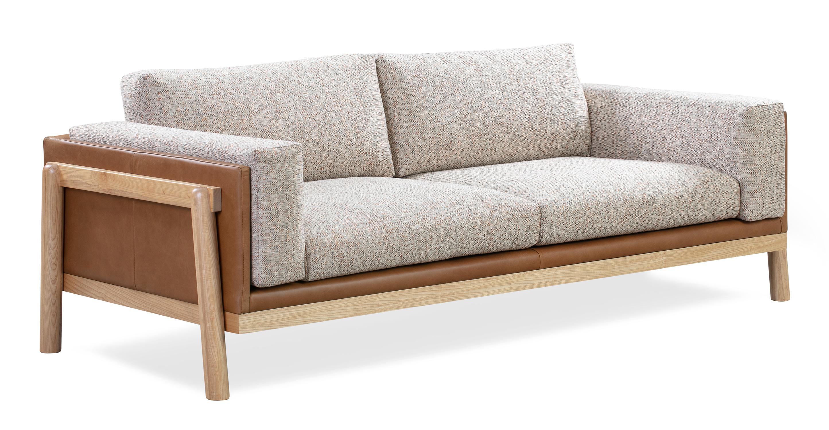 "Nordic 83"" Fusion Sofa, Russet & Blossom"