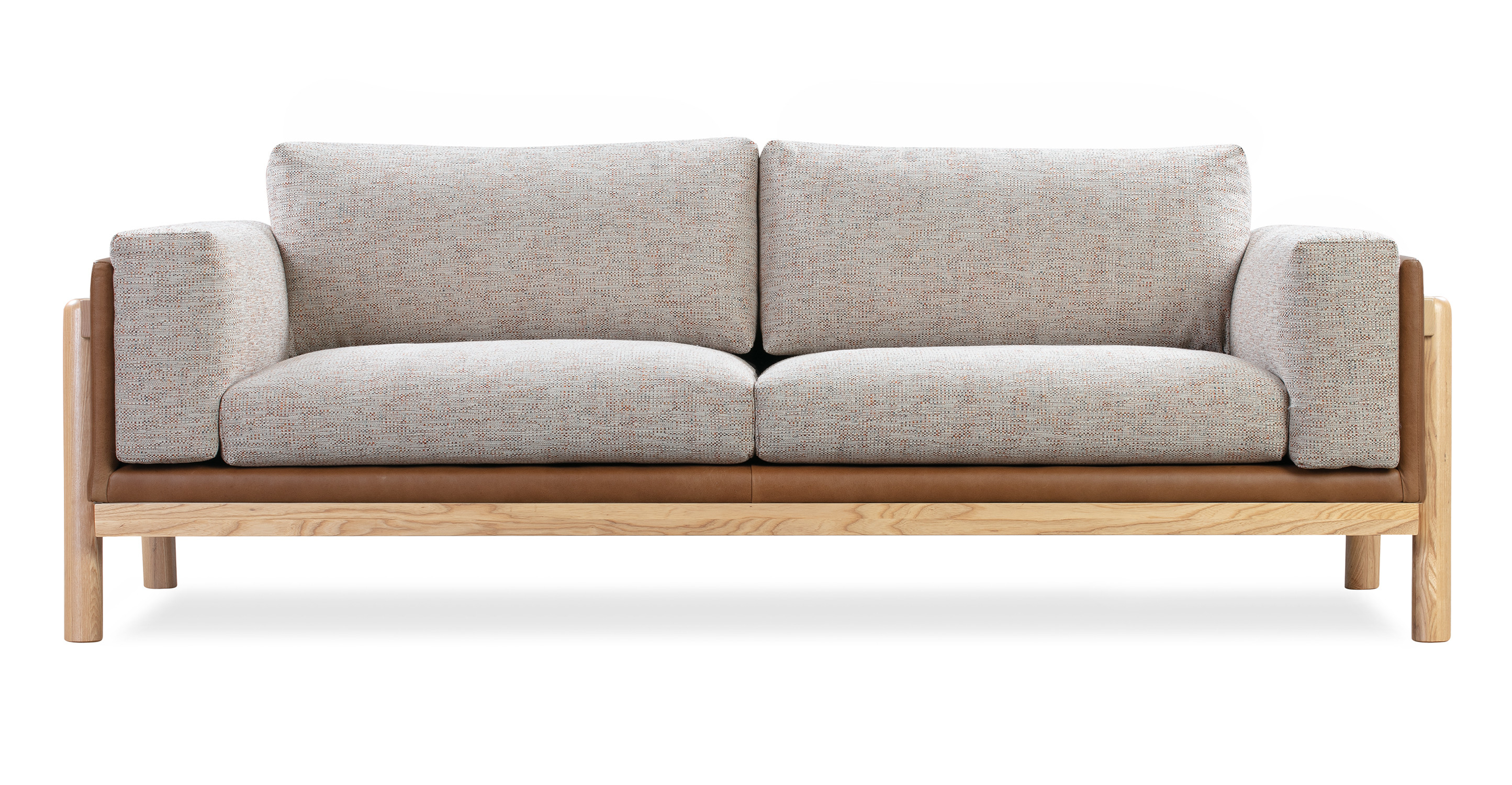 "Nordic 82"" Fusion Sofa, Russet & Blossom"