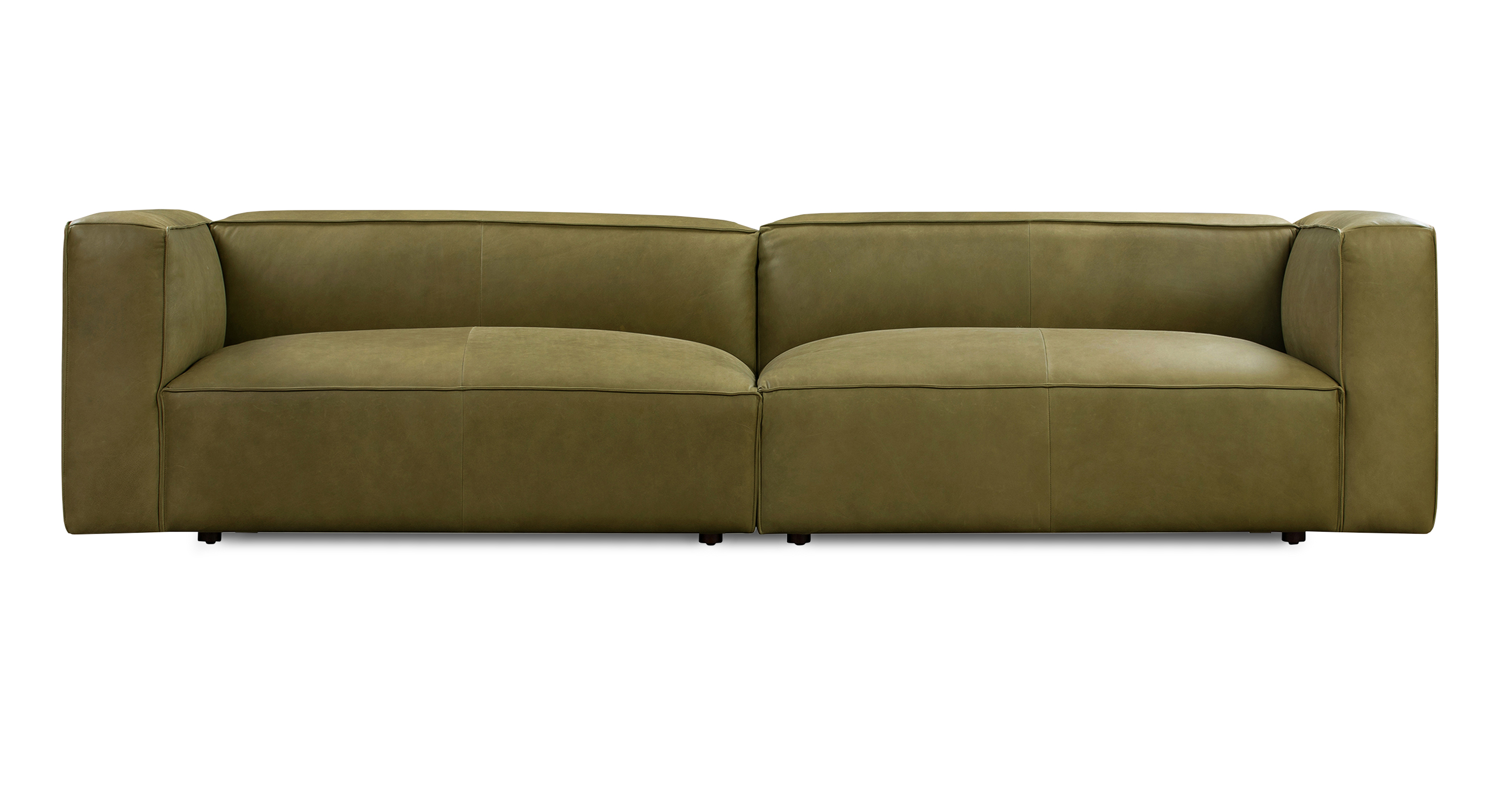 "Soho 110"" Leather Sofa, Verona Olive"