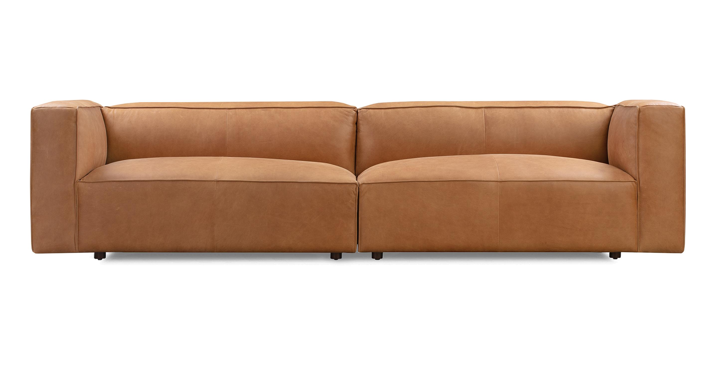 """Soho 110"""" Leather Sofa, Milano Russett"""