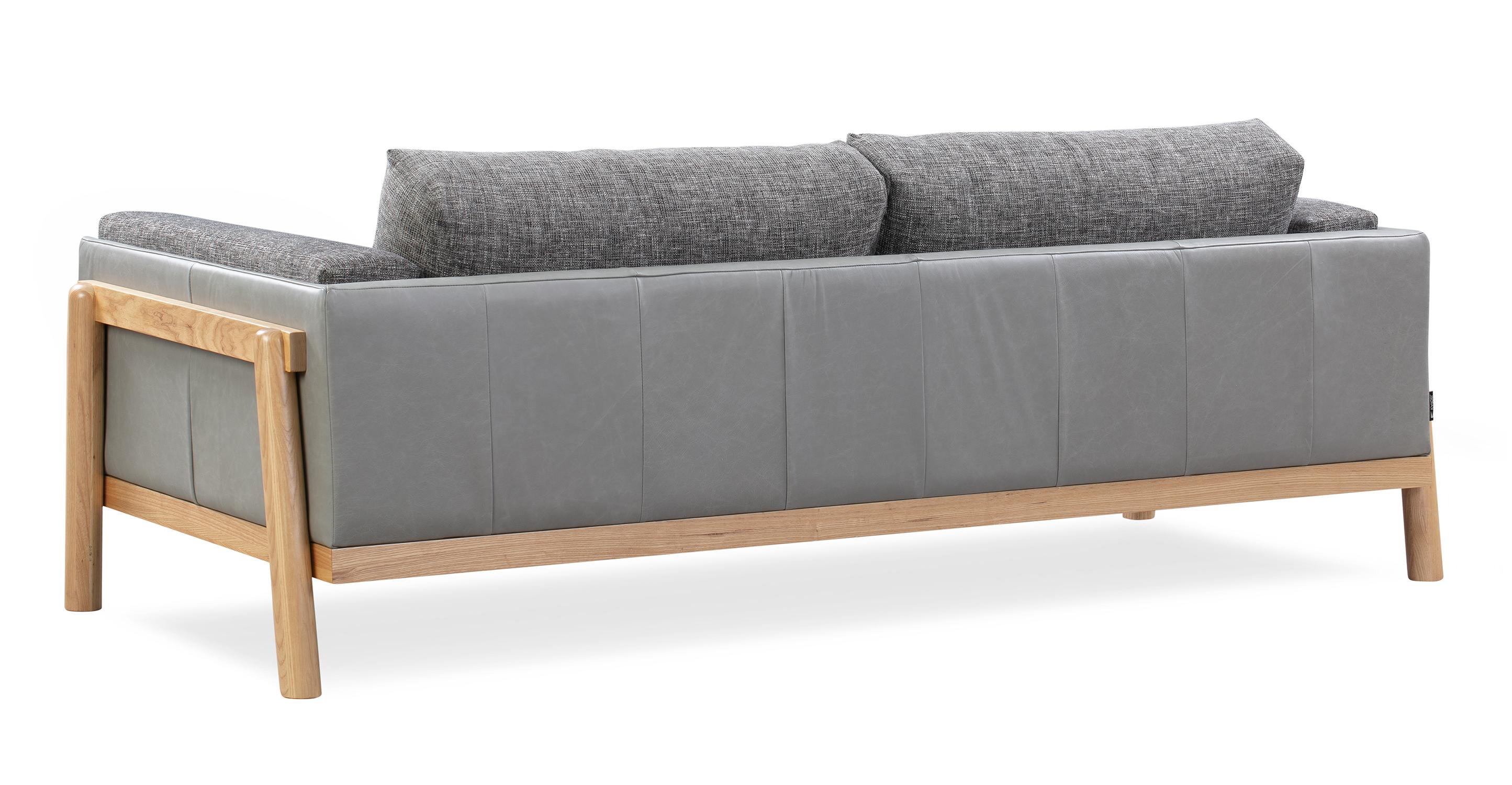 "Nordic 83"" Fusion Sofa, Iron & Stone"