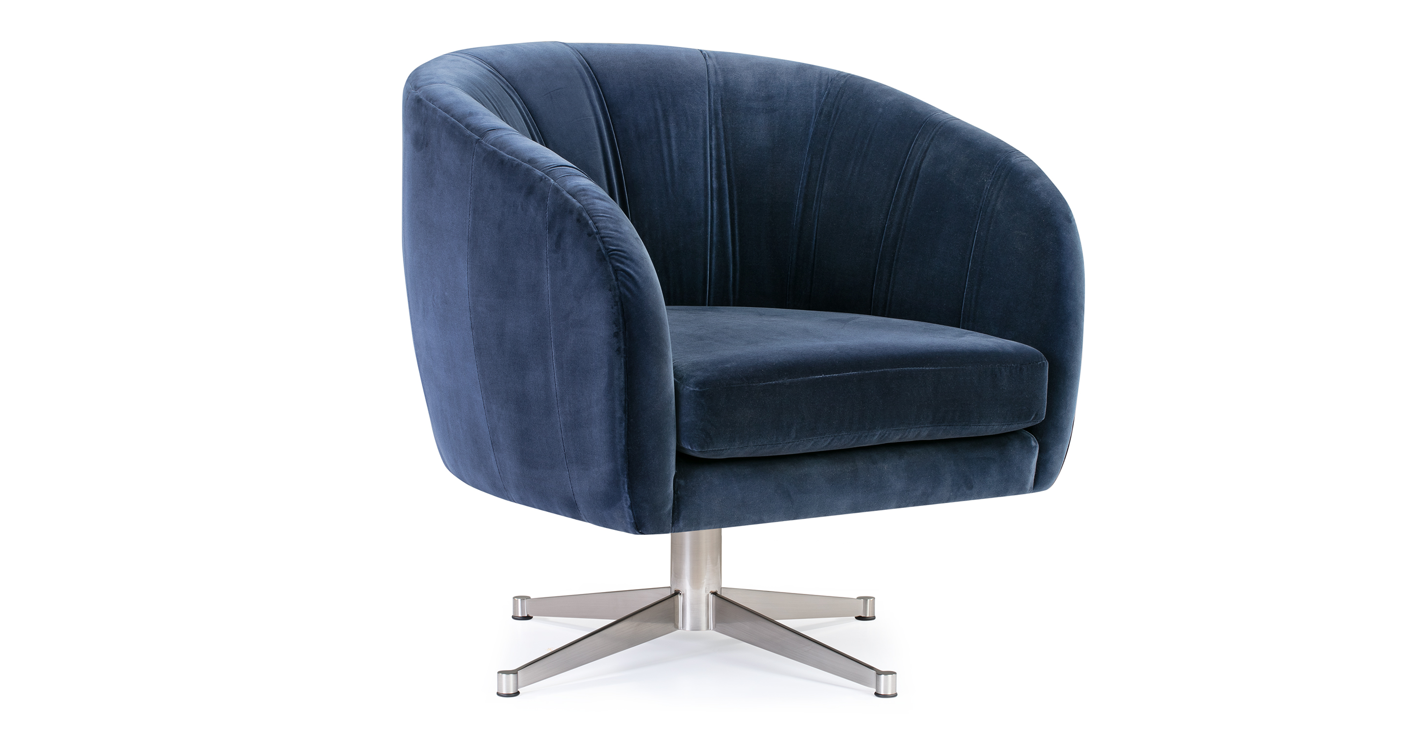 "Crescent 30"" Fabric Chair, Admiral Velvet"