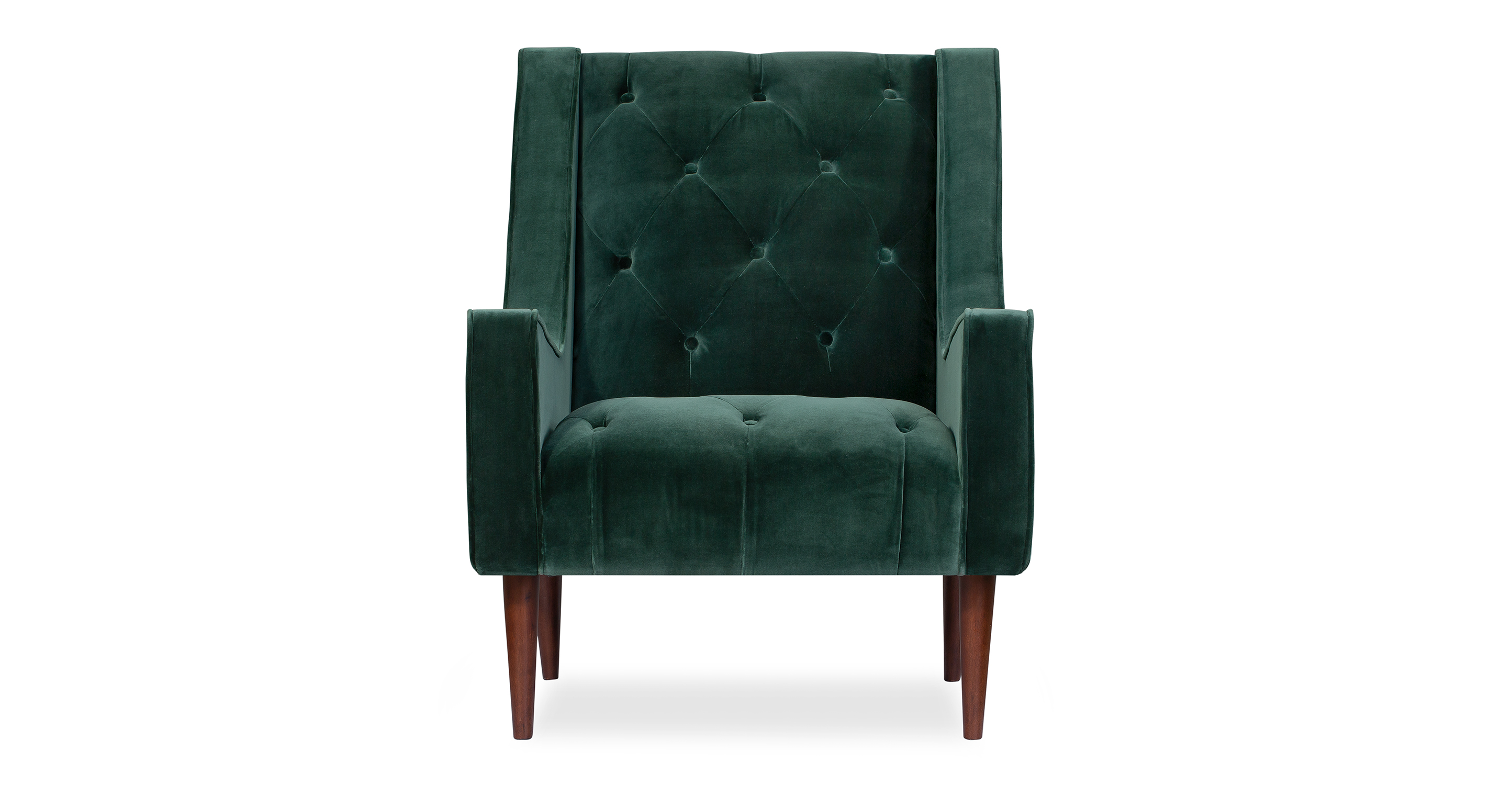 "Krisel 27"" Fabric Chair, Emerald Velvet"