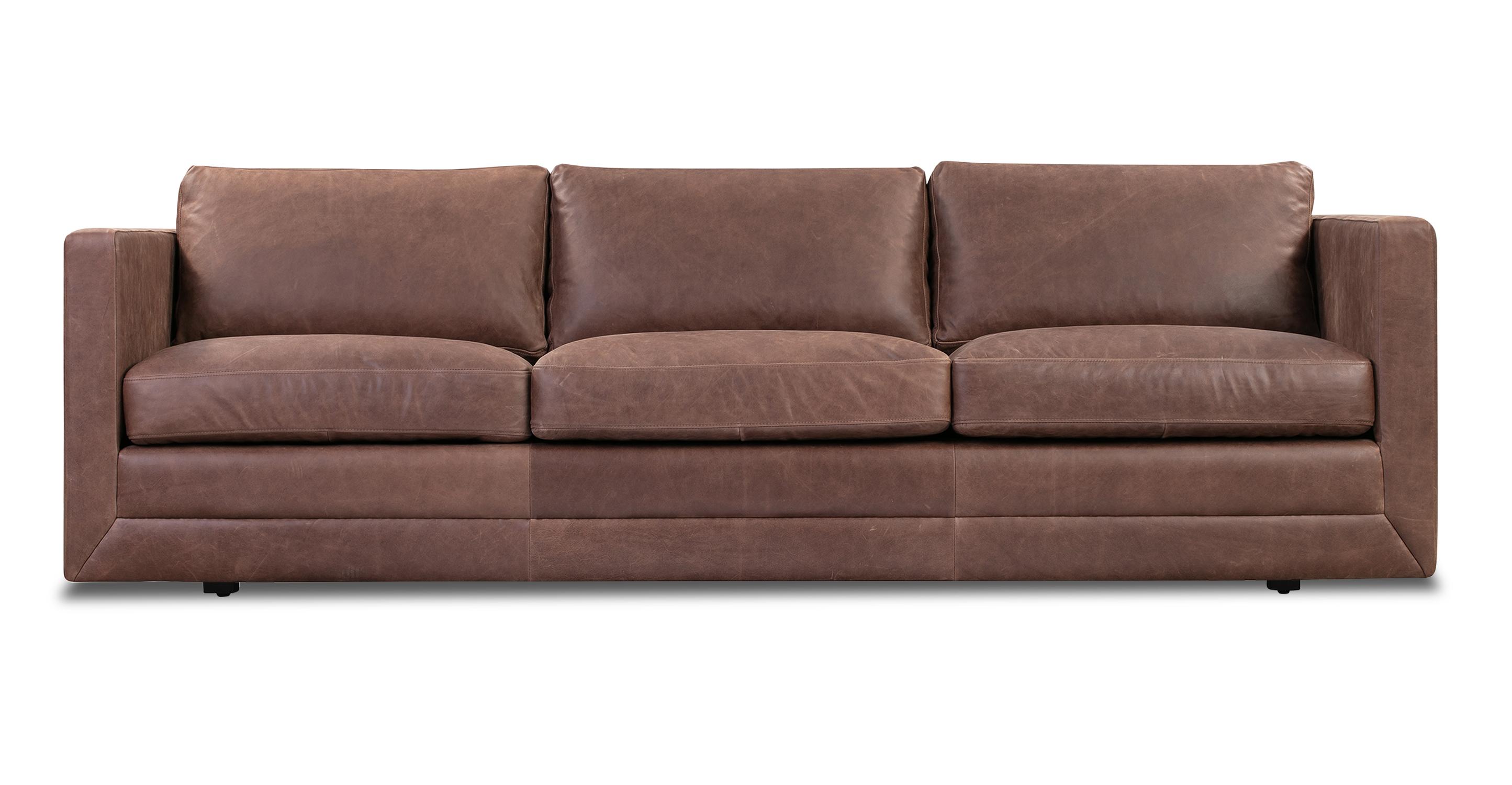 "Manhattan 85"" Leather Sofa, Milano Mocha"