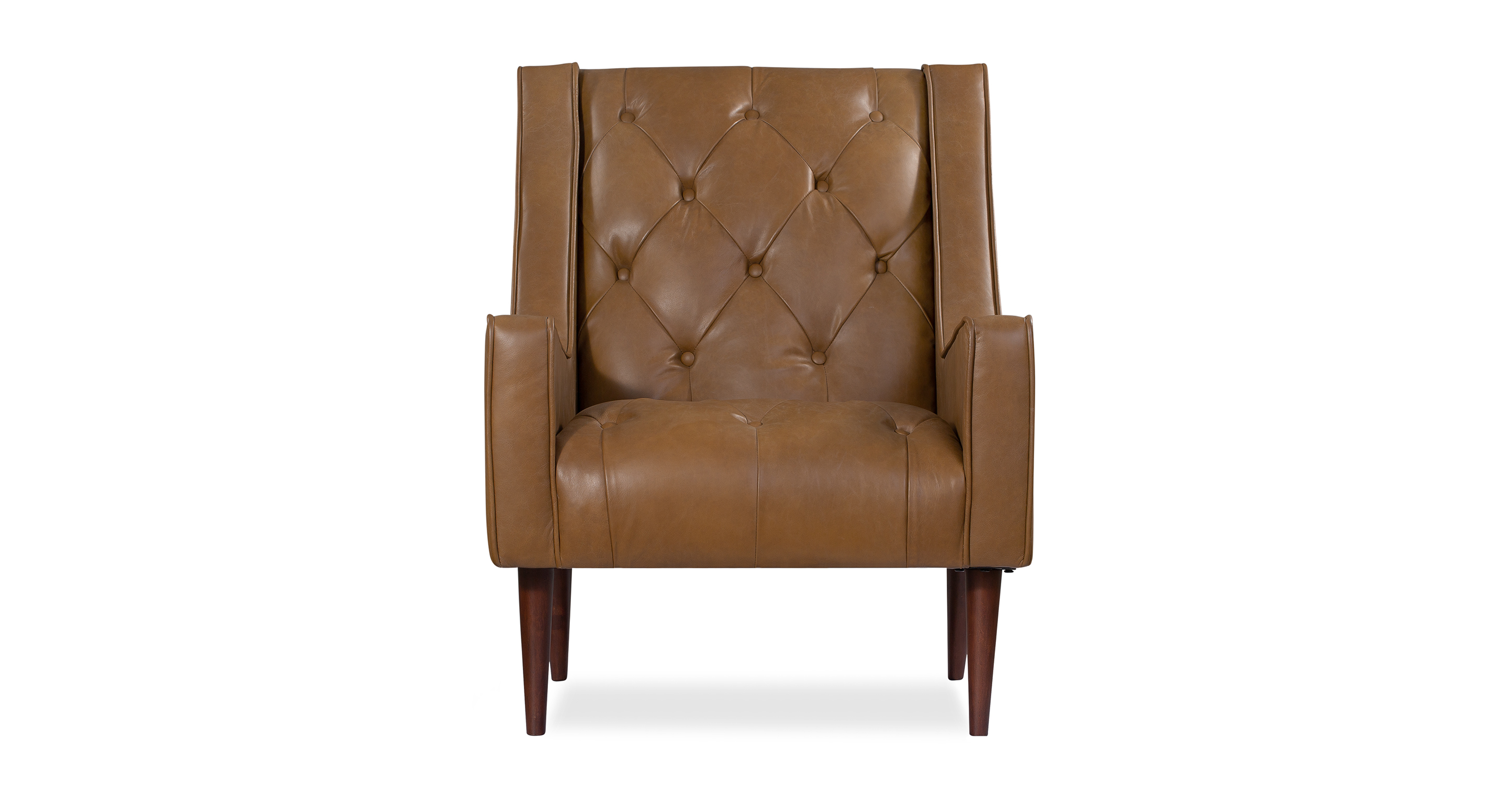 "Krisel 27"" Leather Chair, Napoli Honey"