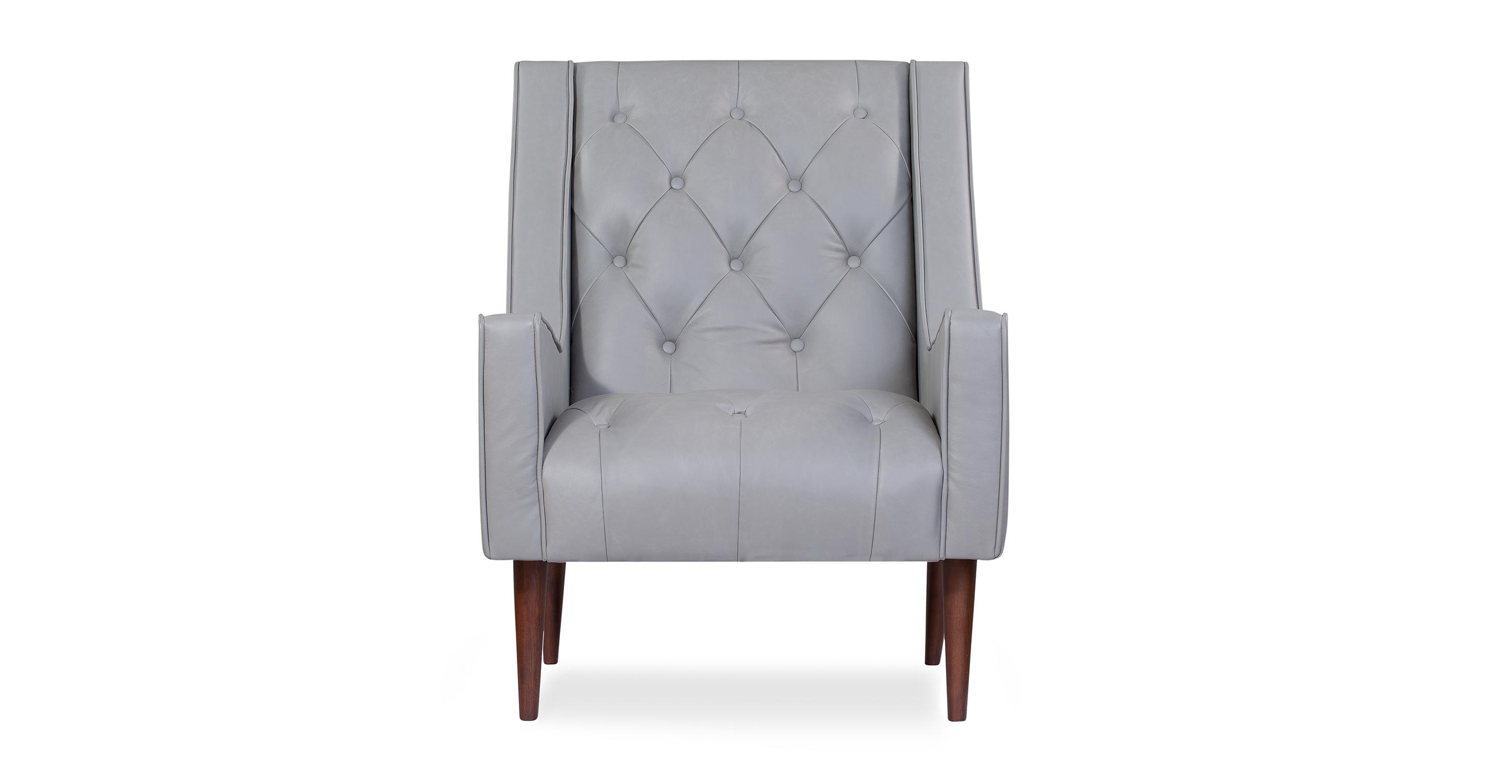 "Krisel 27"" Leather Chair, Napoli Stone"