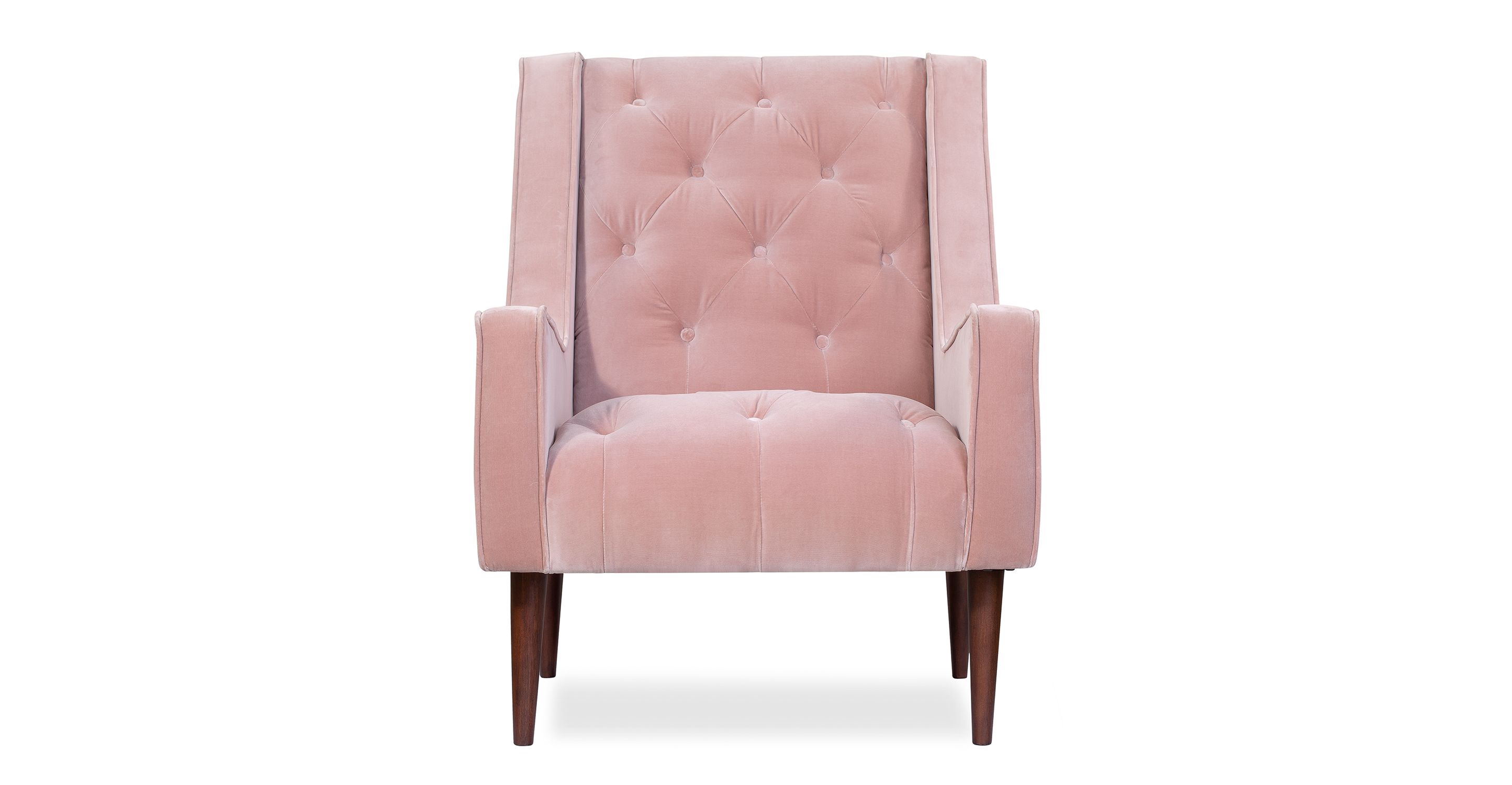 "Krisel 28"" Fabric Chair, Rose Velvet"