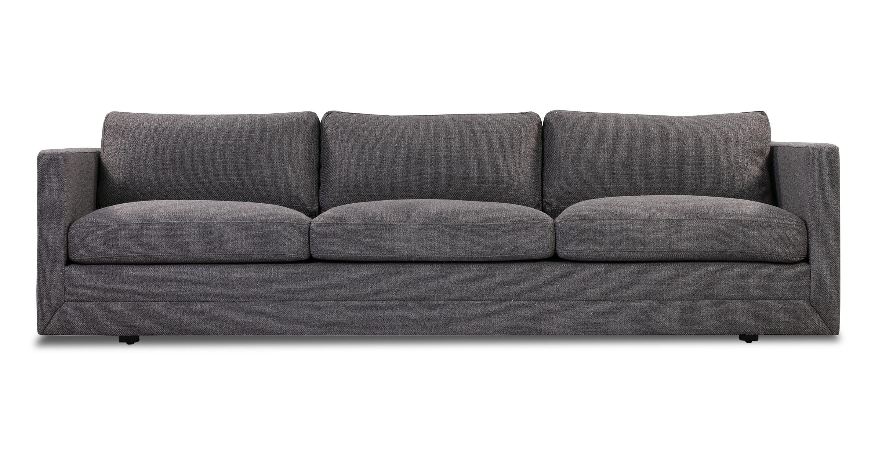 """Manhattan 93"""" Fabric Sofa, Elyx Dior Grey"""