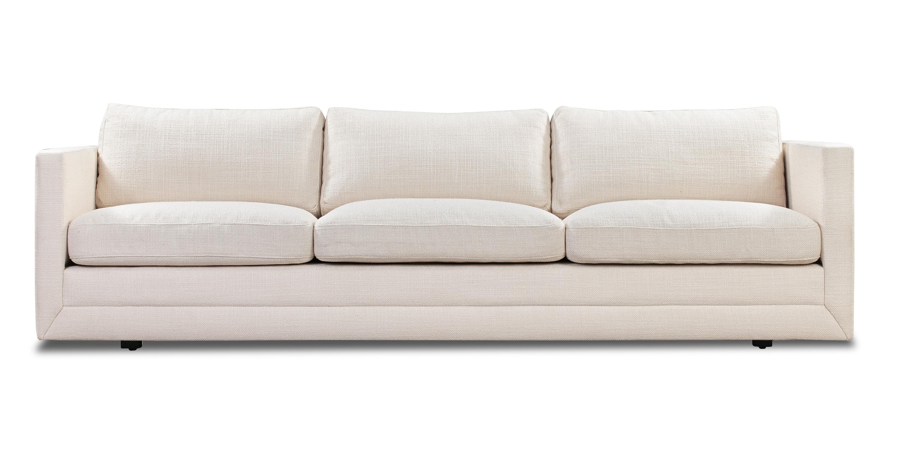 """Manhattan 93"""" Fabric Sofa, Pearl"""