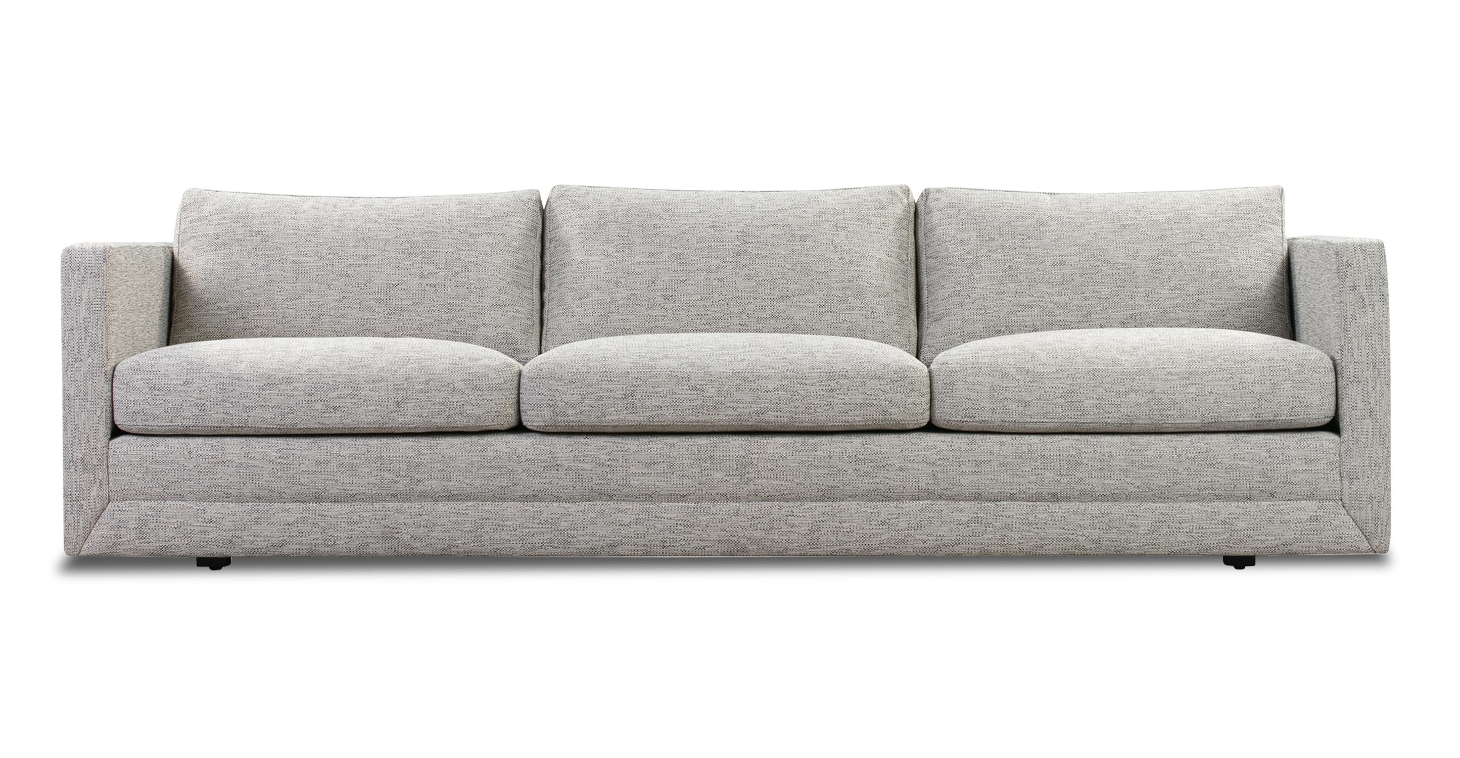 """Manhattan 93"""" Fabric Sofa, Cliff Woven"""