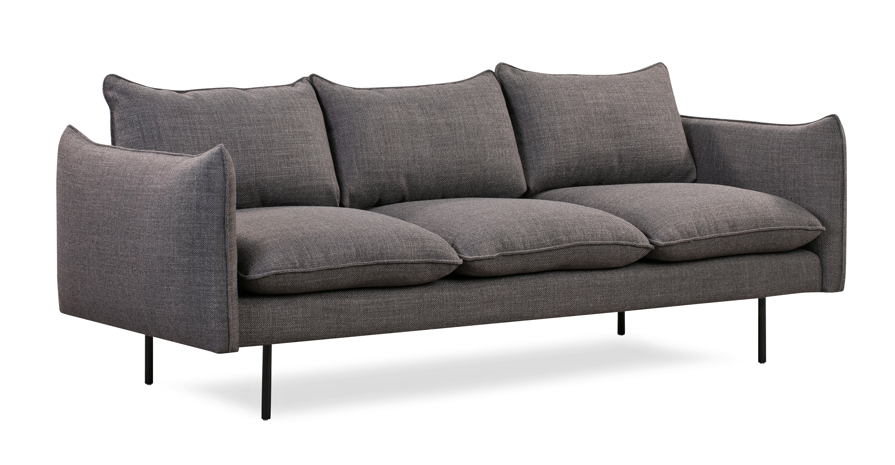 "Oscar 87"" Fabric Sofa, Elyx Dior Grey"