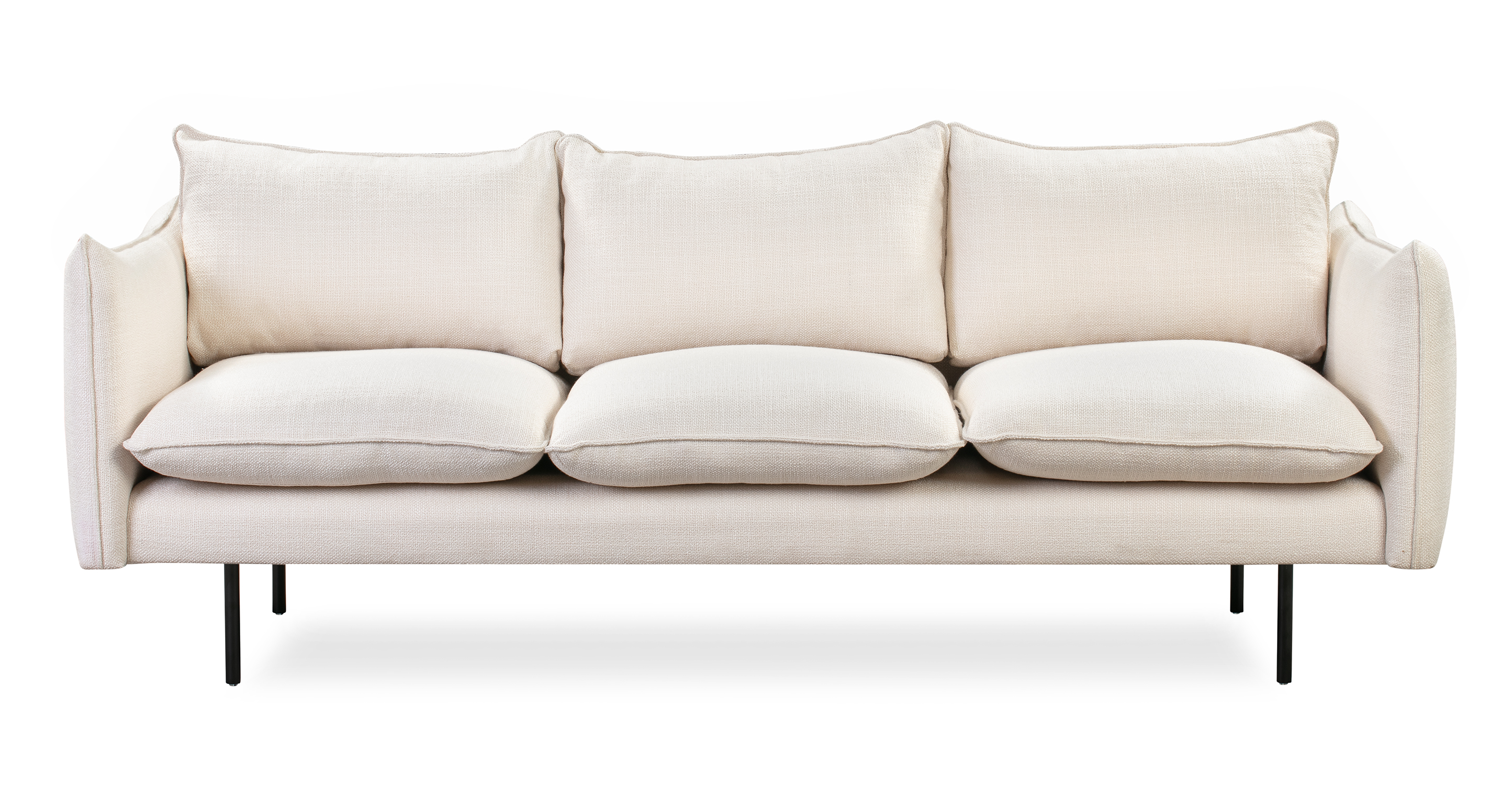 "Oscar 87"" Fabric Sofa, Pearl"