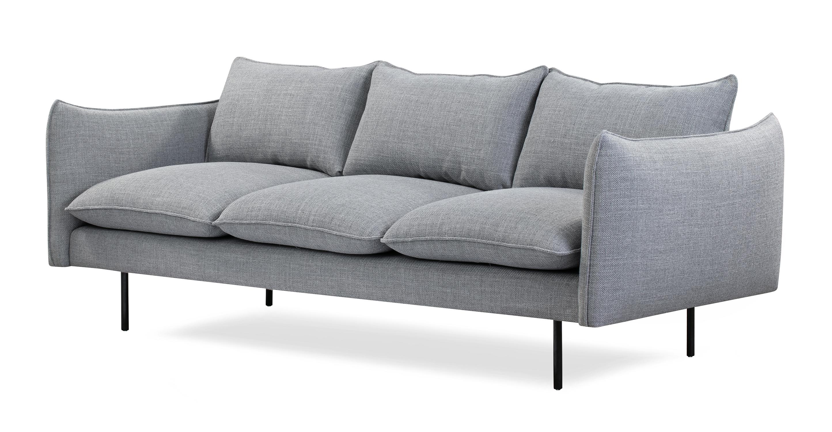 """Oscar 87"""" Fabric Sofa, Sterling"""