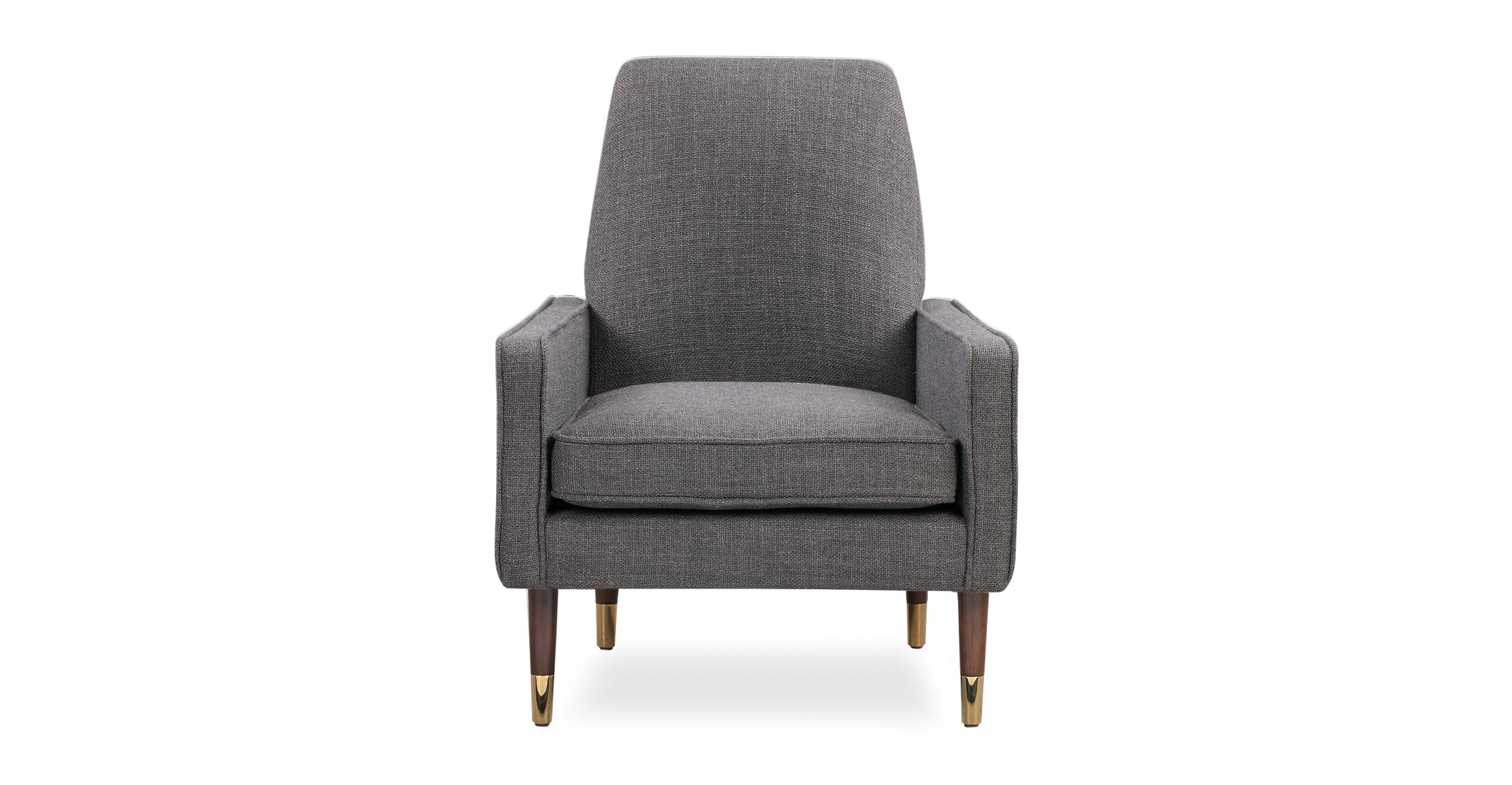 """Draper 28"""" Fabric Chair, Elyx Dior Grey"""