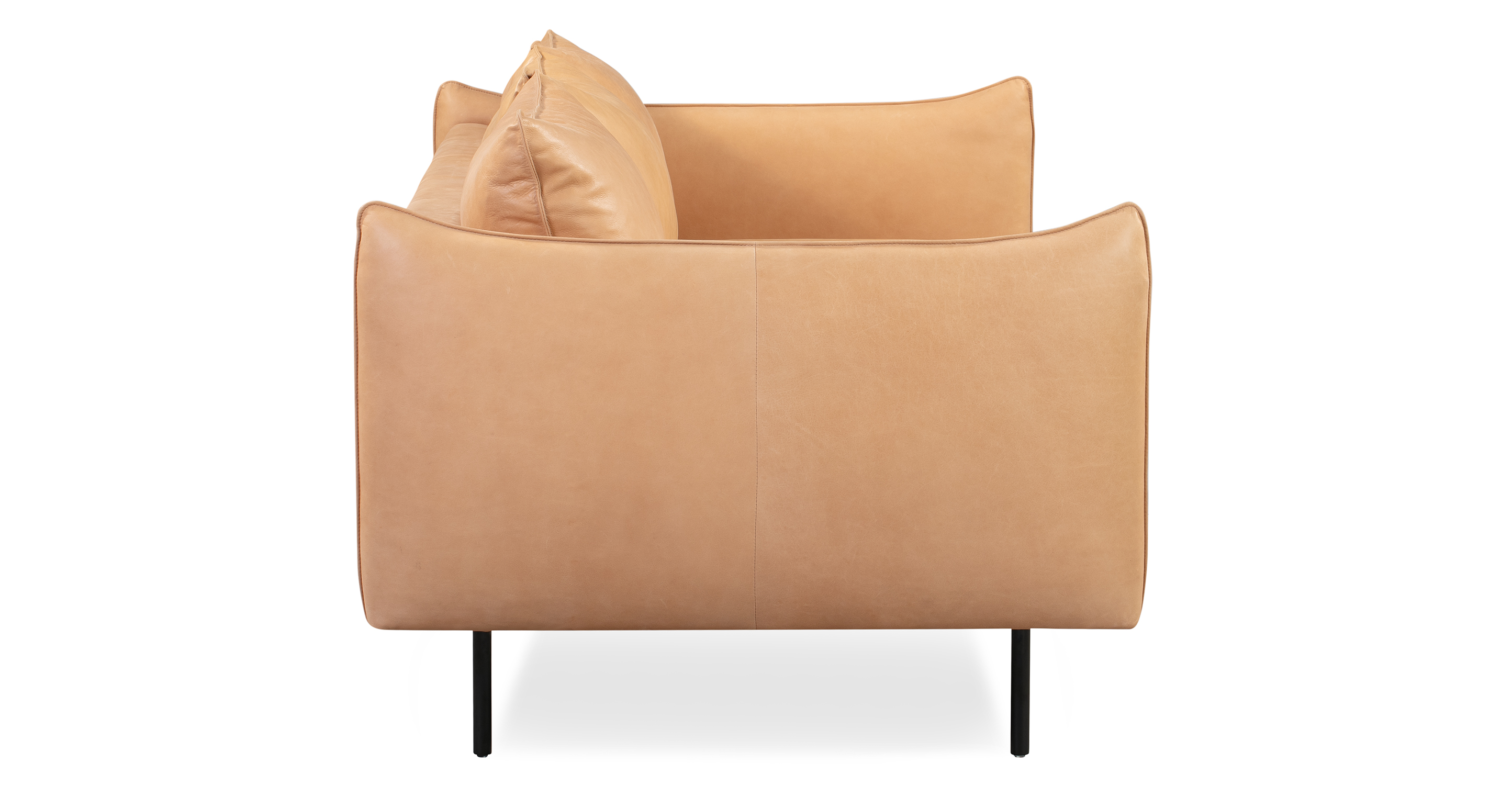 "Oscar 87"" Leather Sofa, Tan Top Grain Full Aniline"