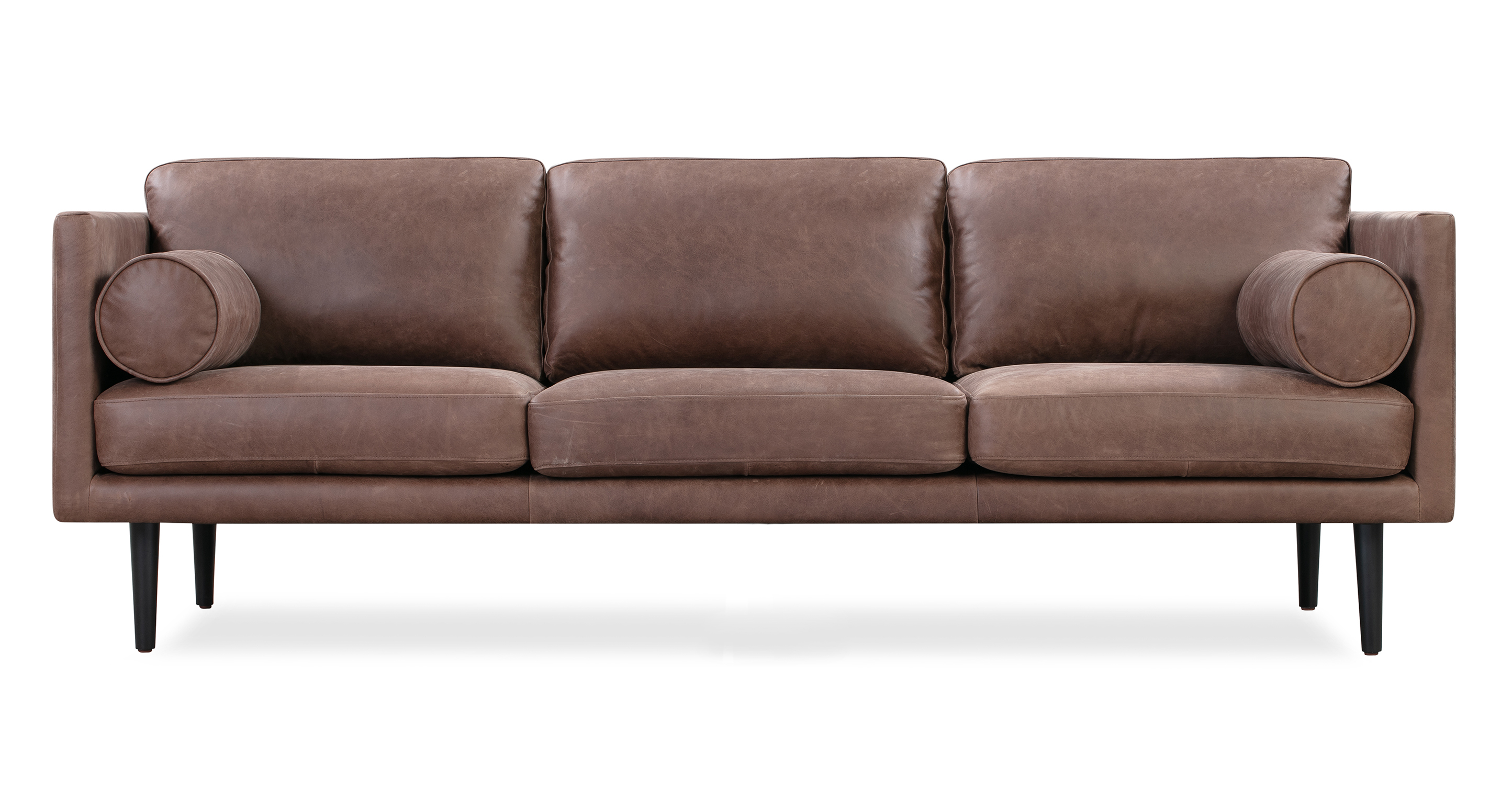 "Spectre 81"" Leather Sofa, Milano Mocha"